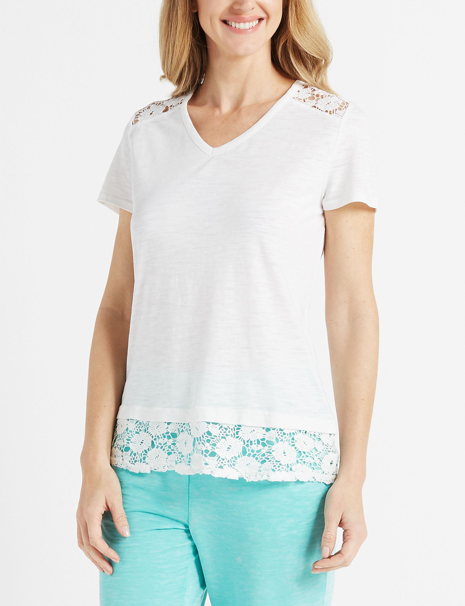 Onyx White Shirts & Blouses Tees & Tanks