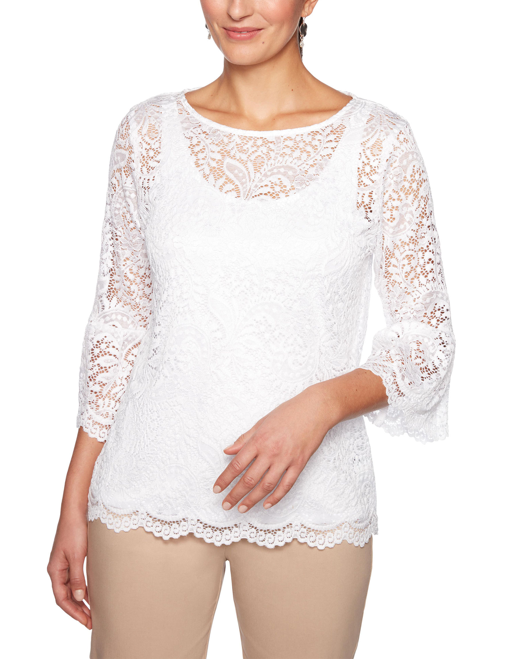 Ruby Road White Shirts & Blouses