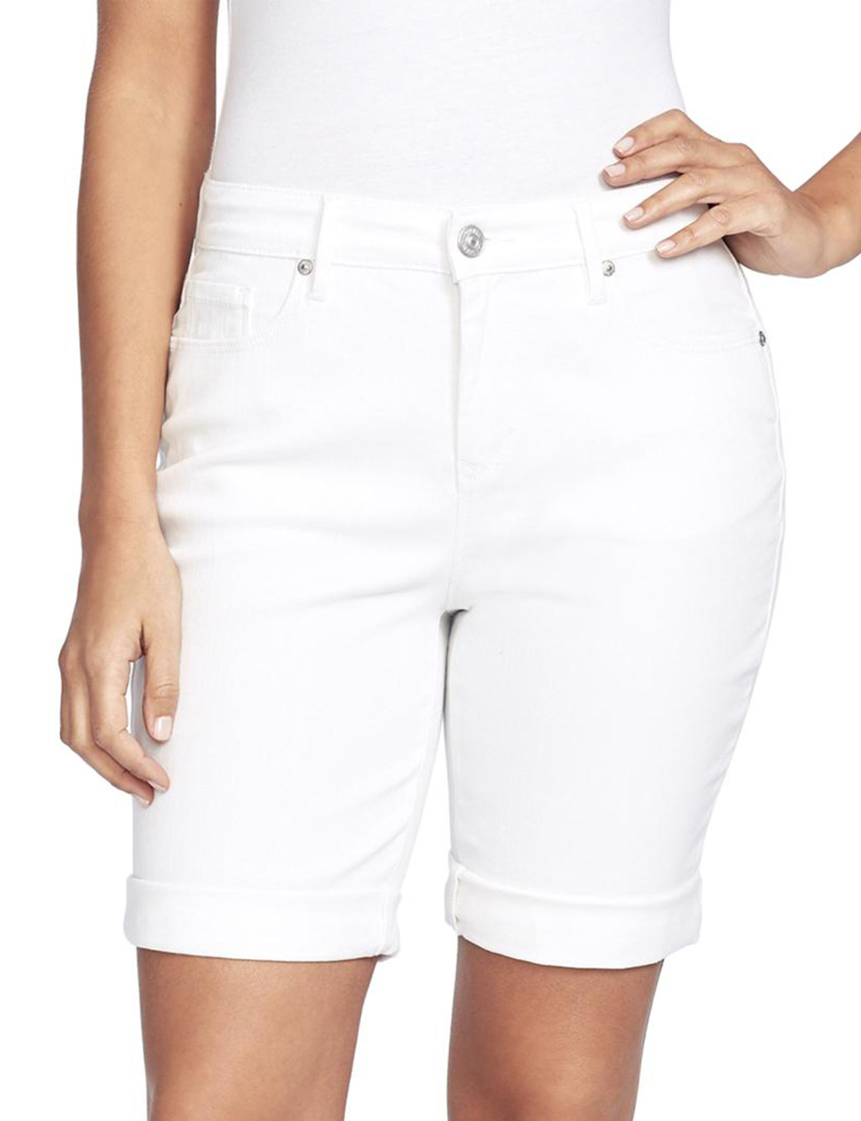 Gloria Vanderbilt White Tailored Shorts