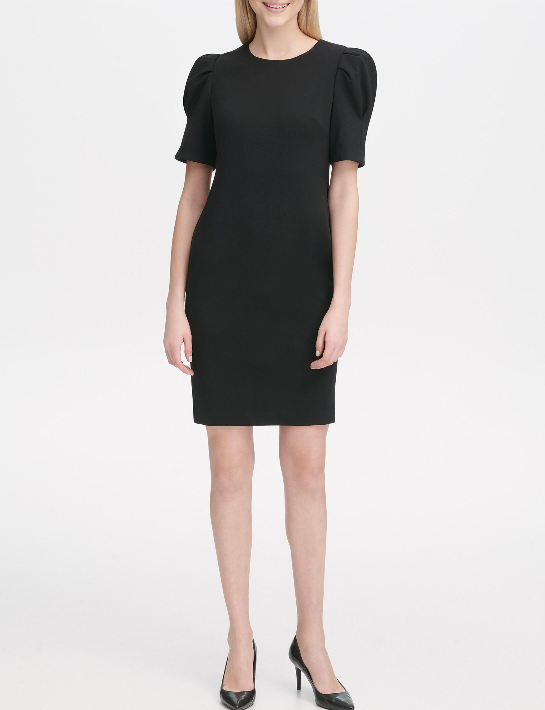 Calvin Klein Black Shirts & Blouses Shift Dresses