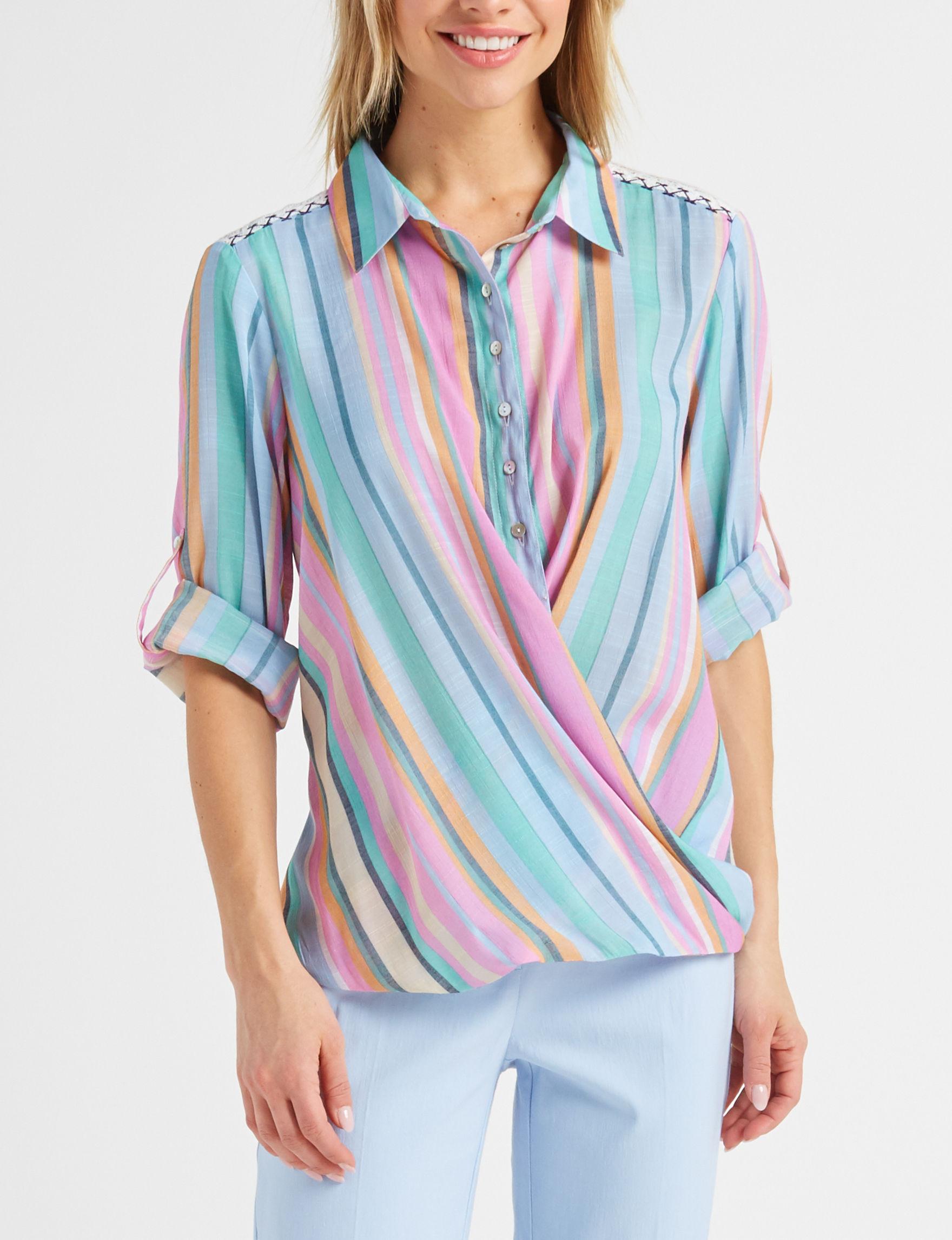Zac & Rachel Pink / Blue Shirts & Blouses