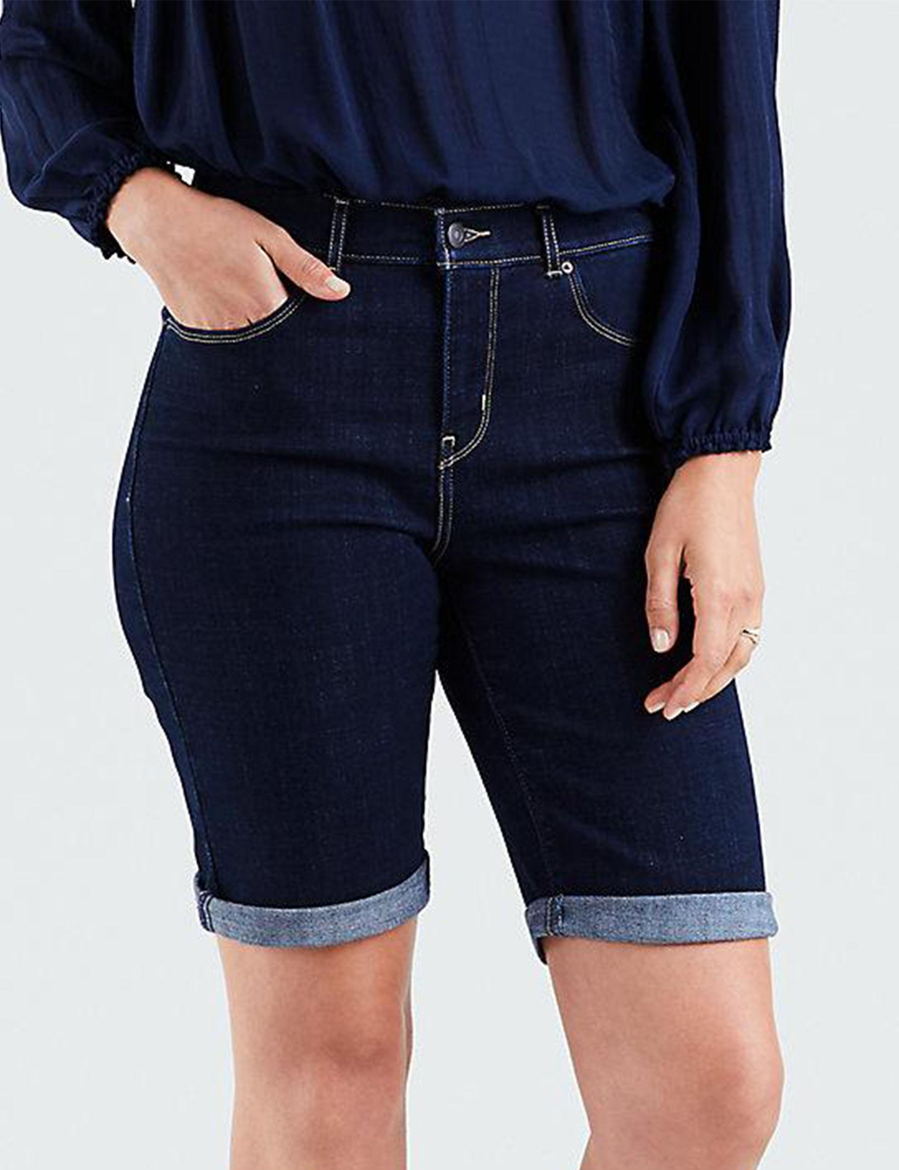 Levi's Dark Blue Bermudas Denim Shorts