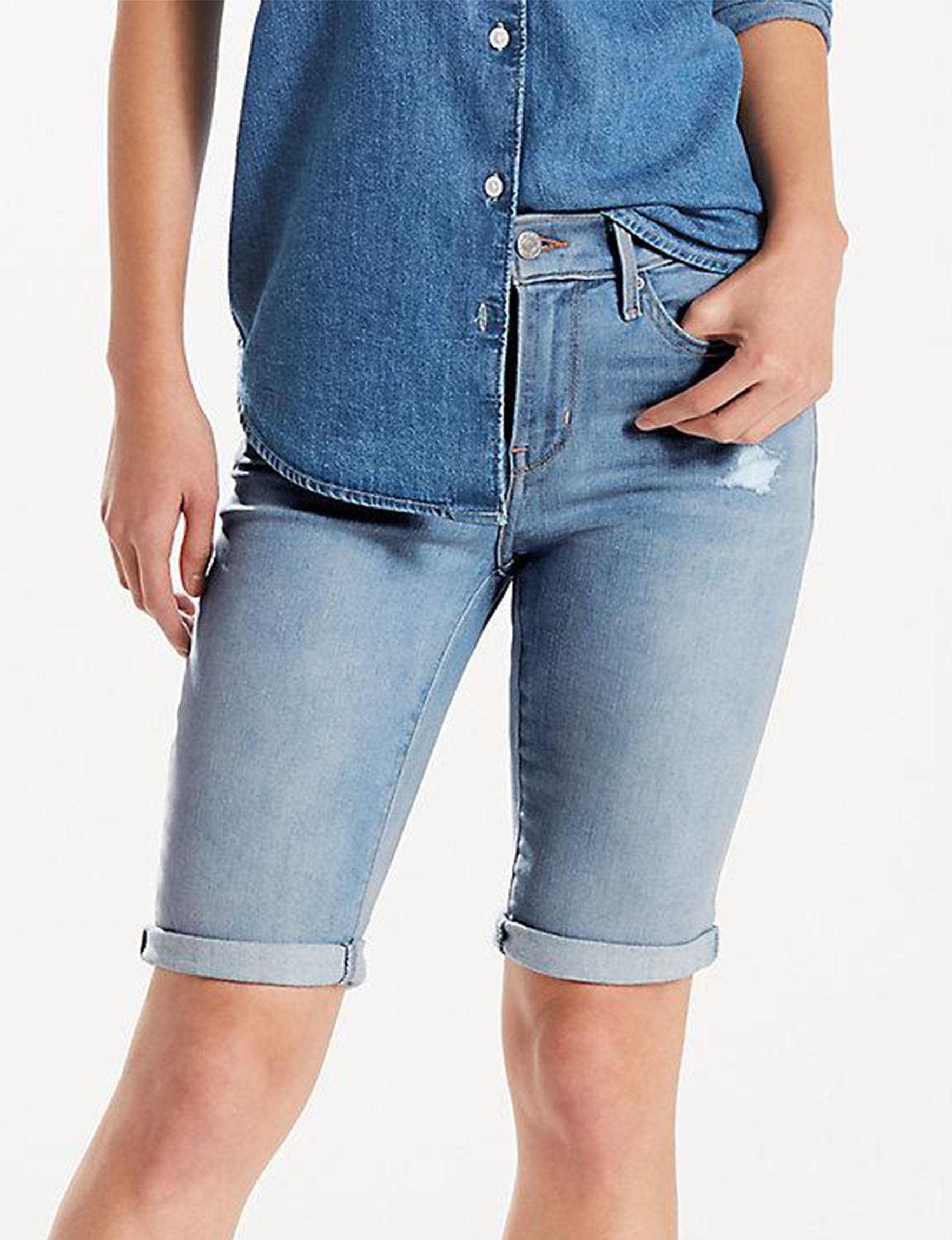 Levi's Blue Bermudas Denim Shorts