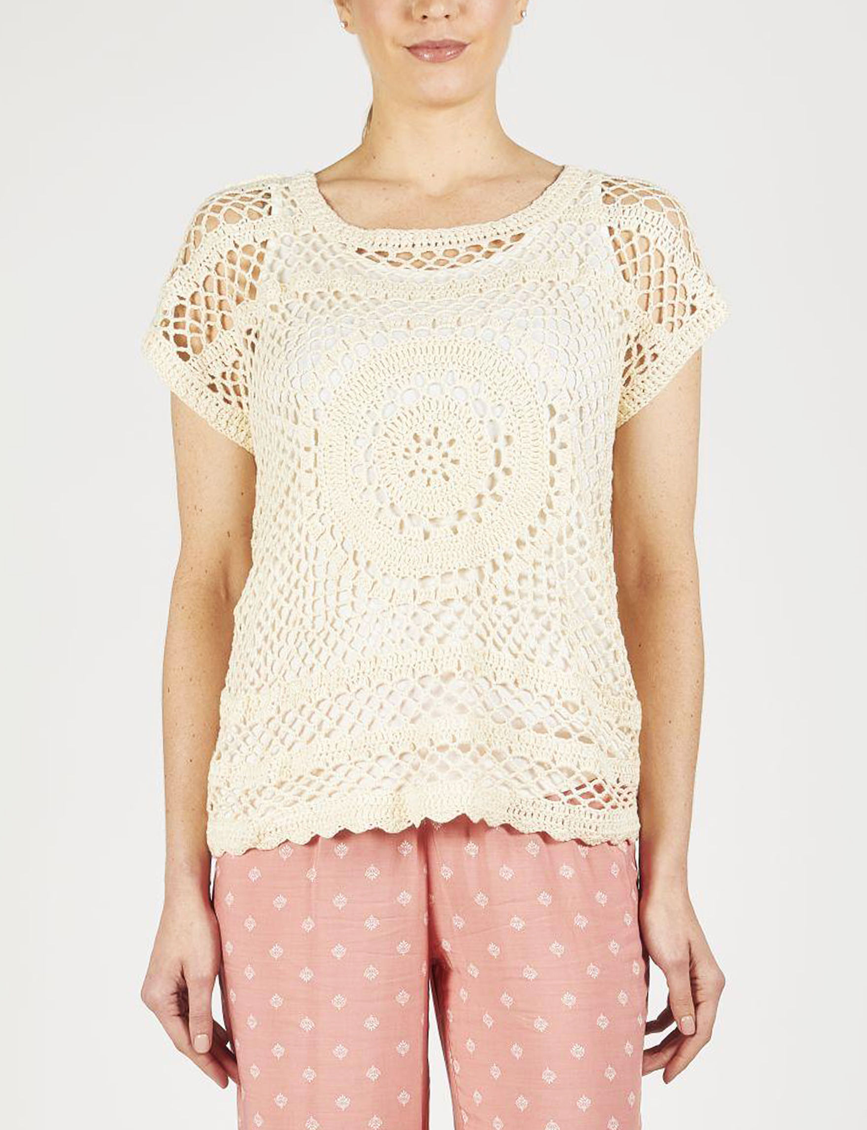 Skyes The Limit Beige Pull-overs