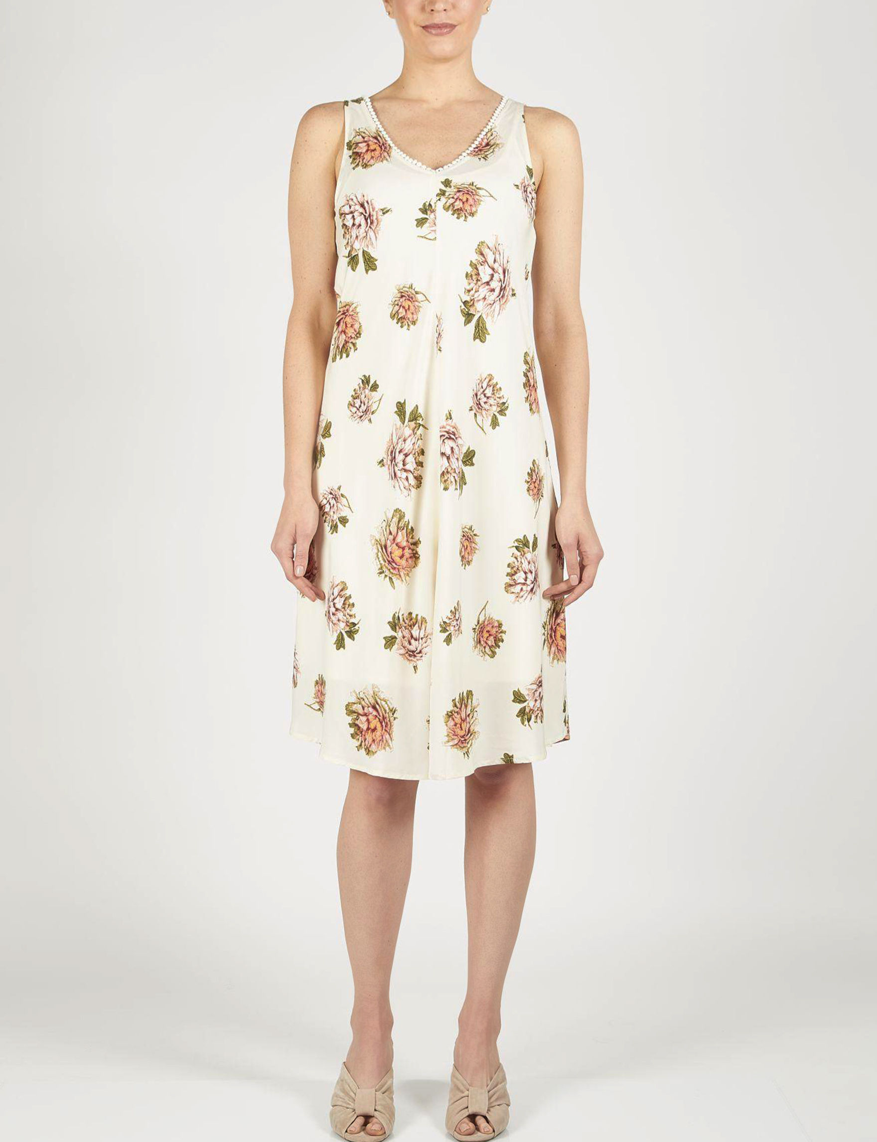 Skyes The Limit Beige Sundresses