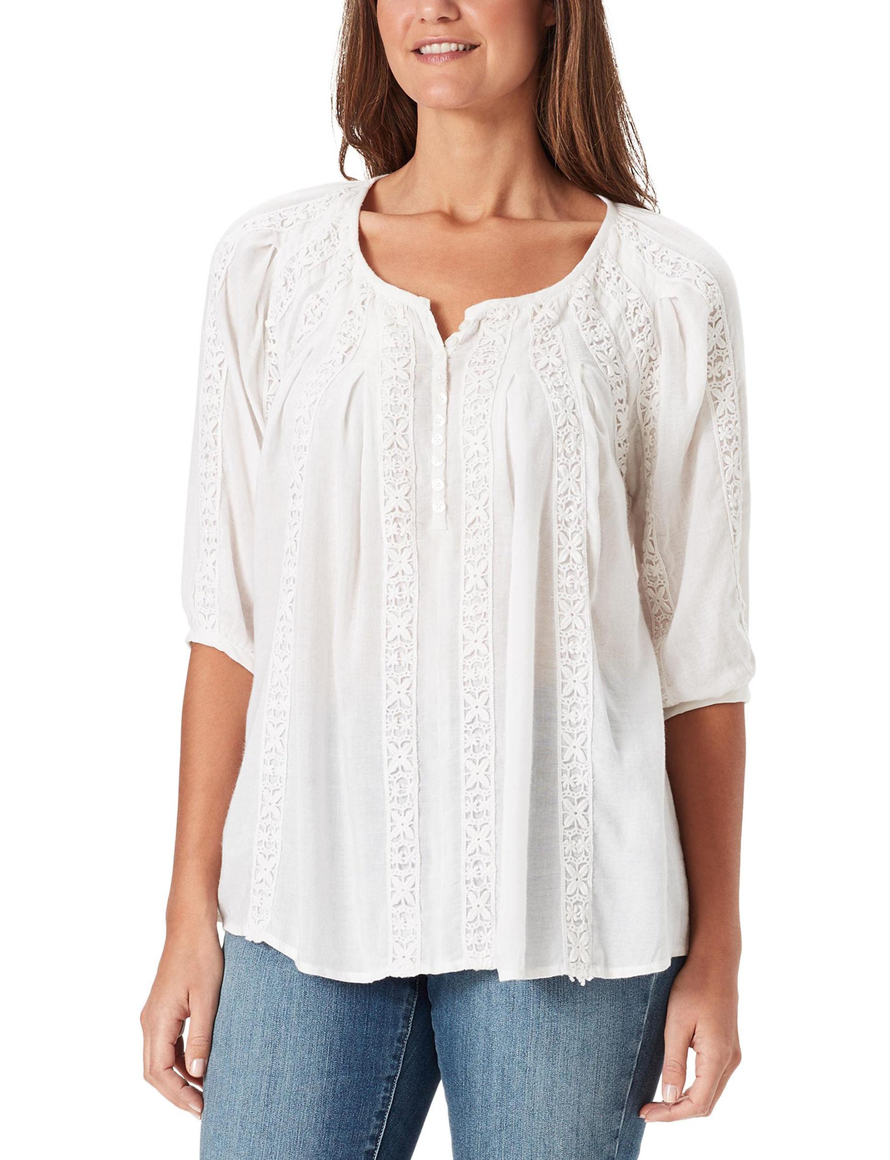 Bandolino White Shirts & Blouses