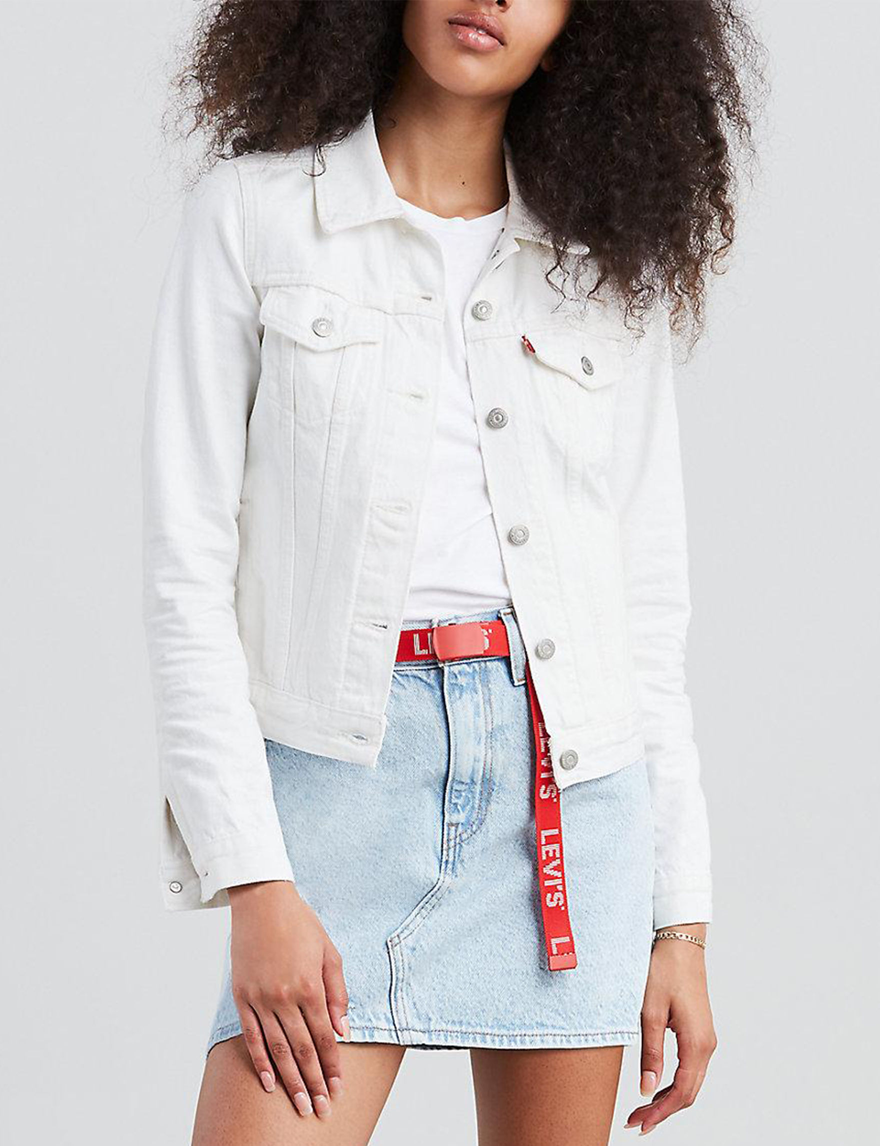 Levi's White Denim Jackets