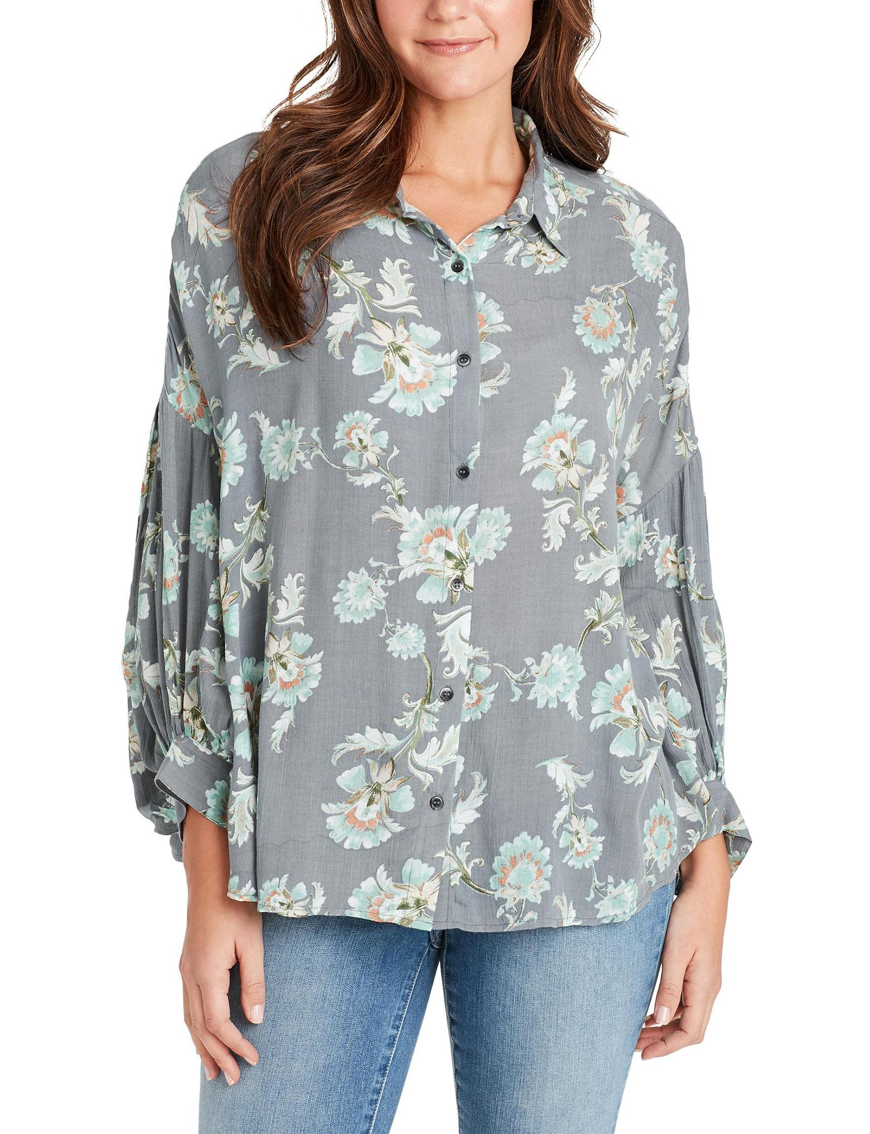 Nine West Grey Shirts & Blouses
