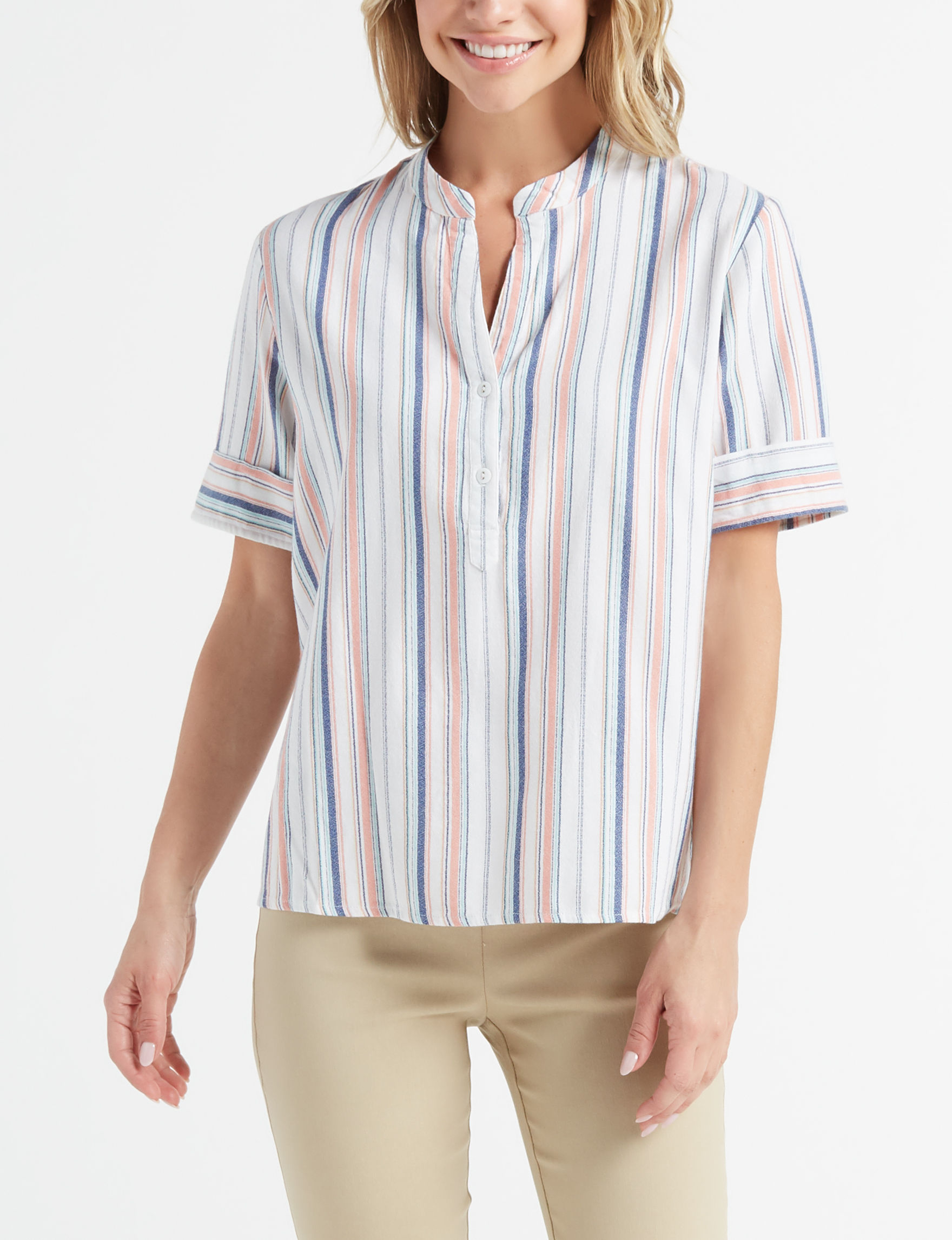 New Direction Pink Multi Shirts & Blouses