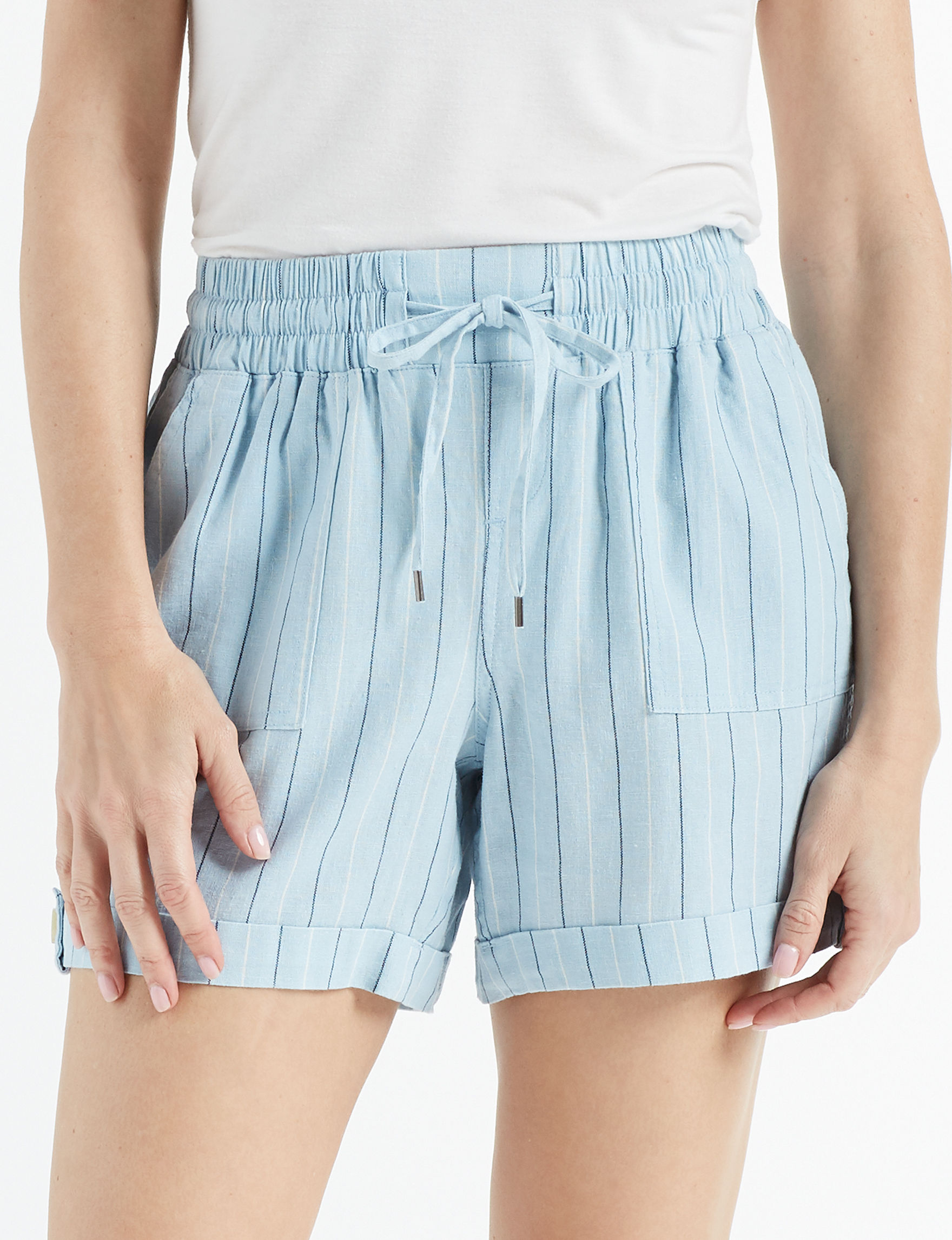 2752da595588 Hannah Women's Linen Striped Shorts | Stage Stores