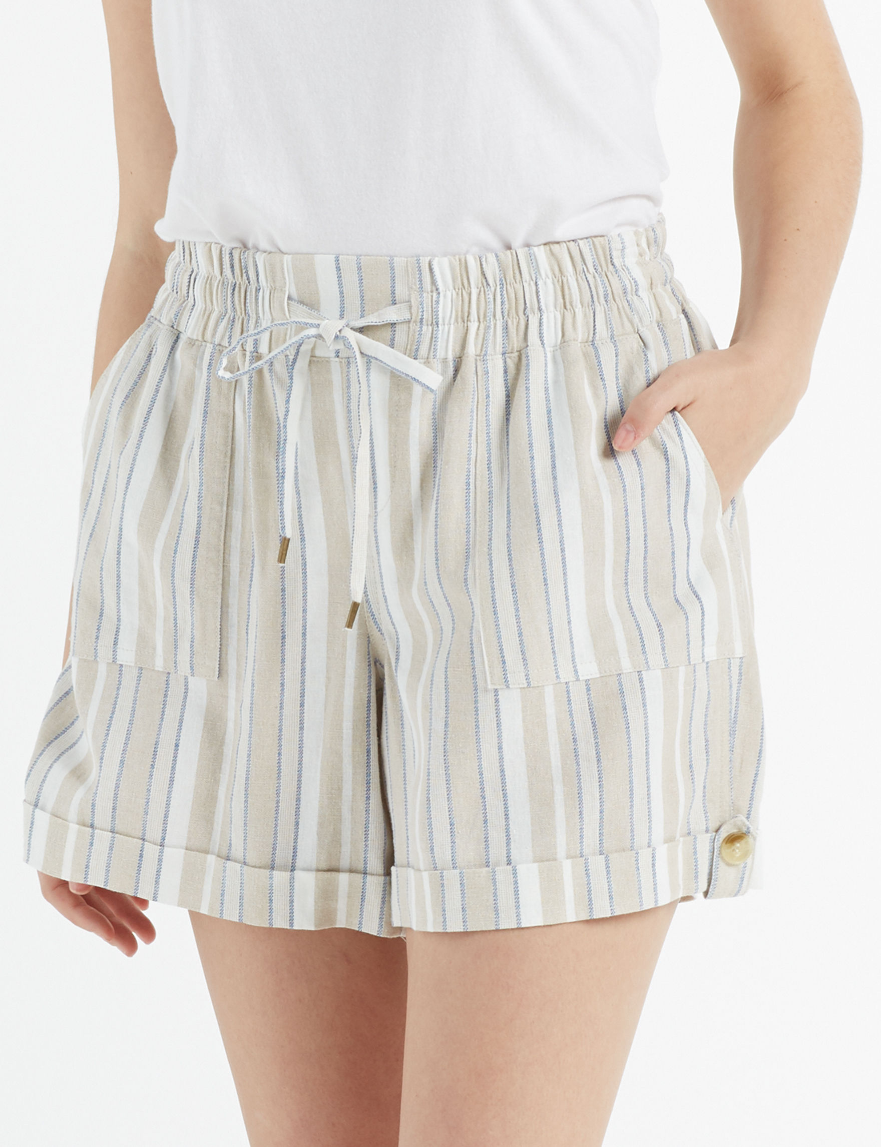 Hannah Beige Soft Shorts