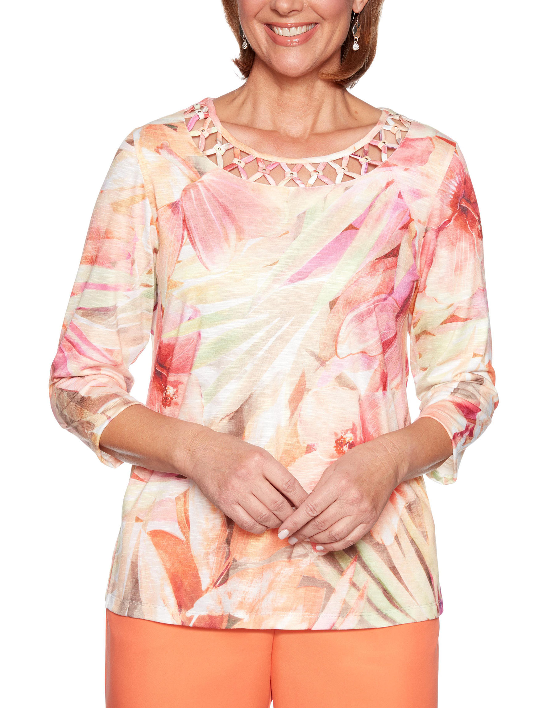 Alfred Dunner Beige / Multi Shirts & Blouses