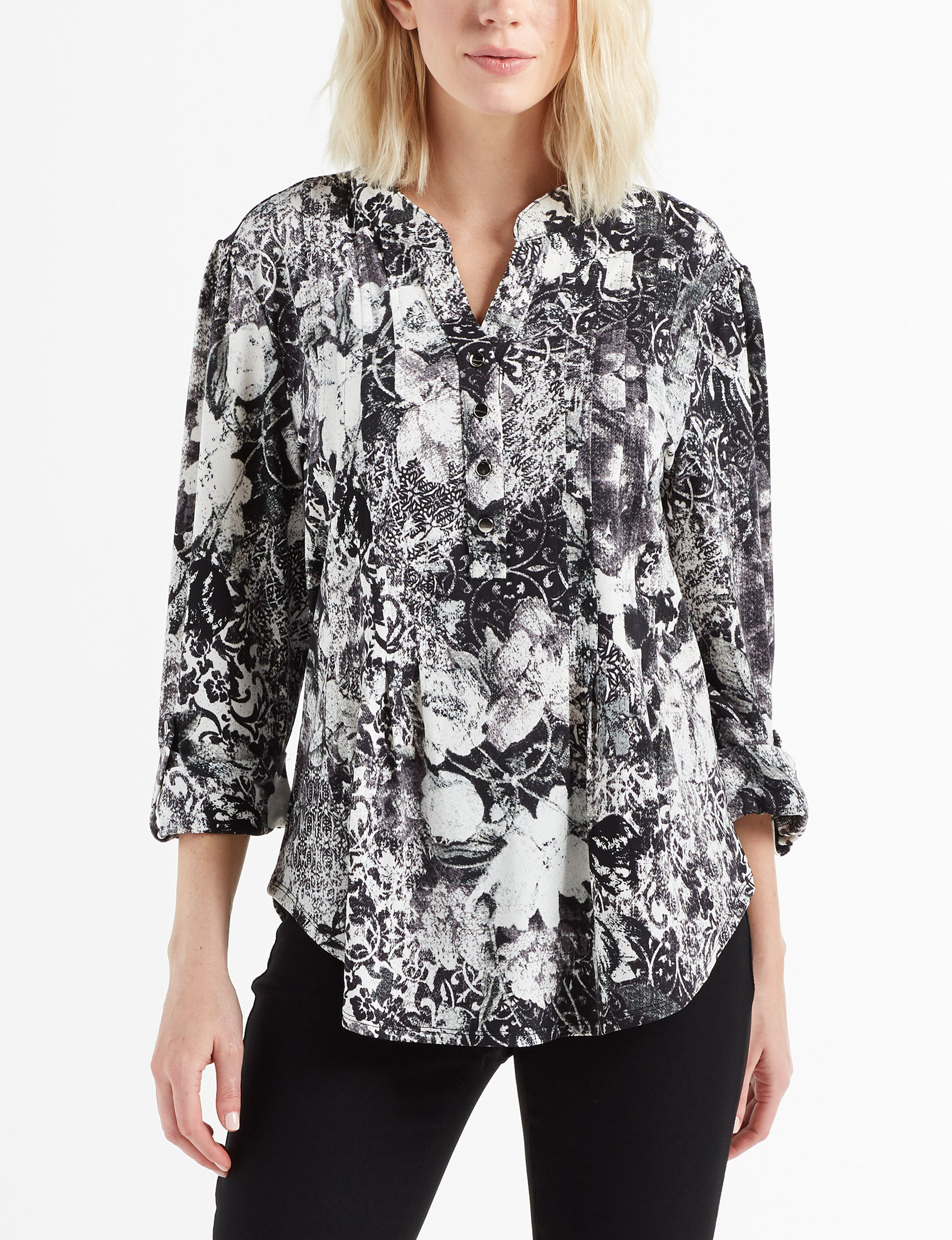 Cocomo Black /  White Shirts & Blouses