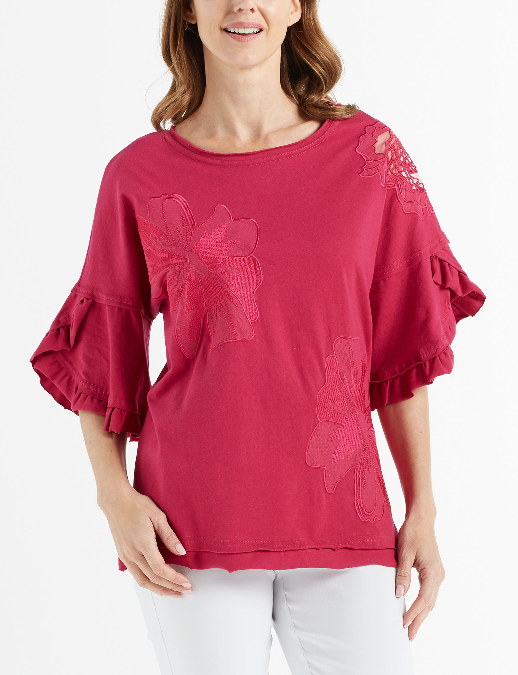 Hannah Fuschia Shirts & Blouses