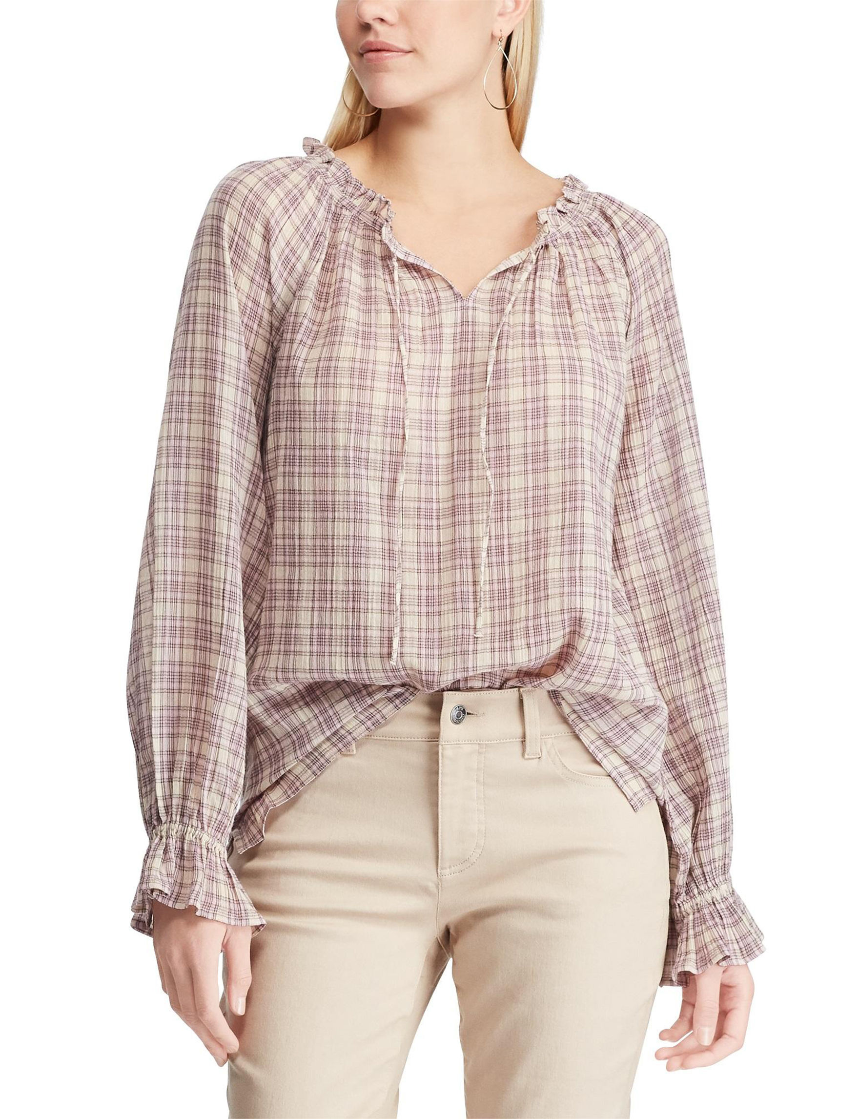 Chaps Beige / Pink Shirts & Blouses