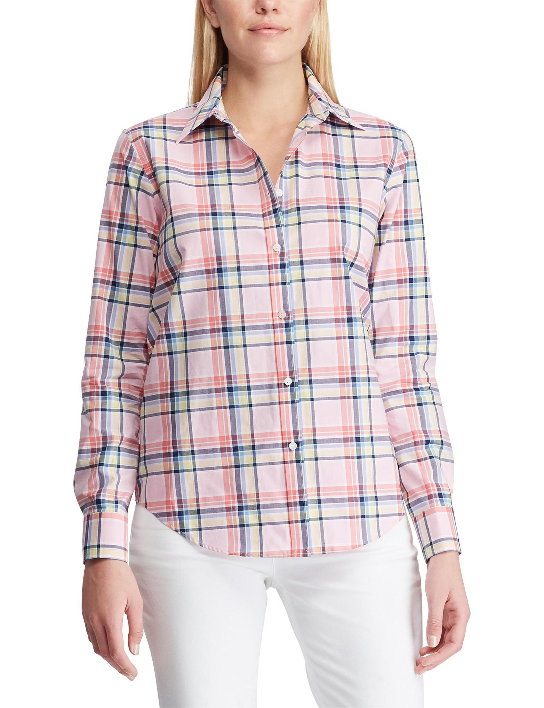 Chaps Pink Shirts & Blouses
