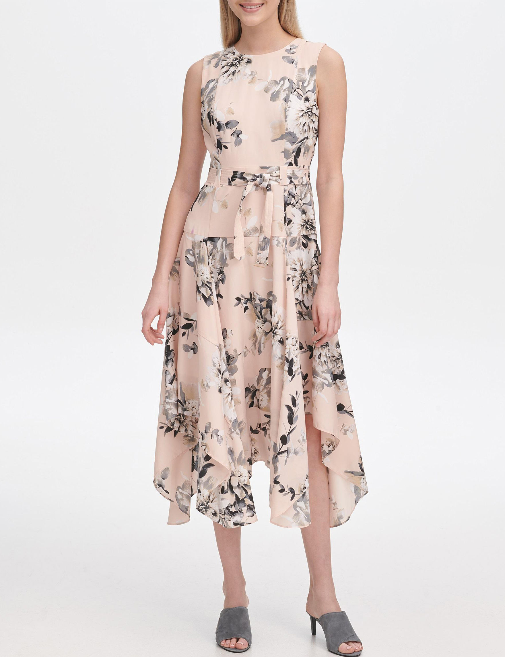 Calvin Klein Rose Everyday & Casual Fit & Flare Dresses