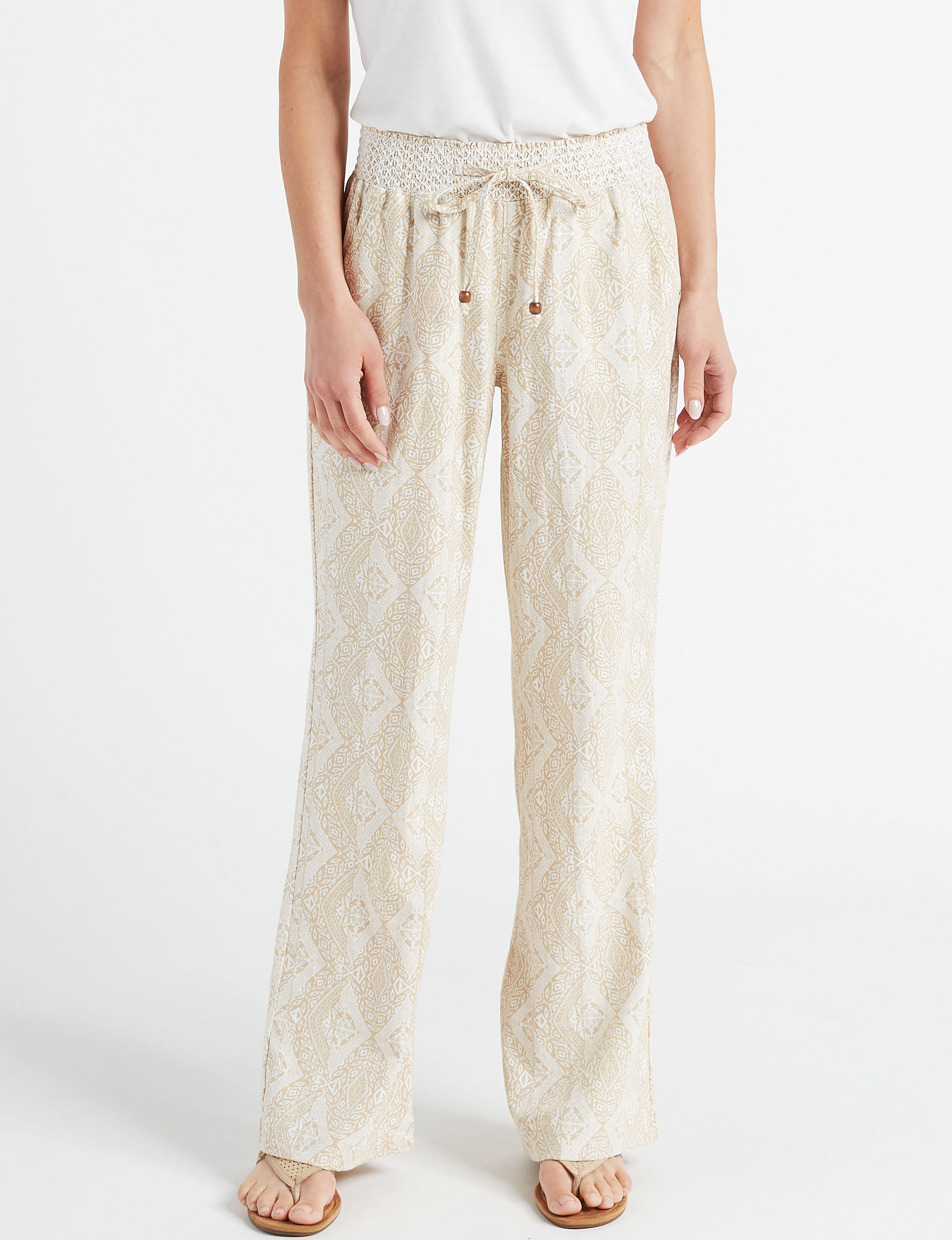 Sound Style Beige Soft Pants