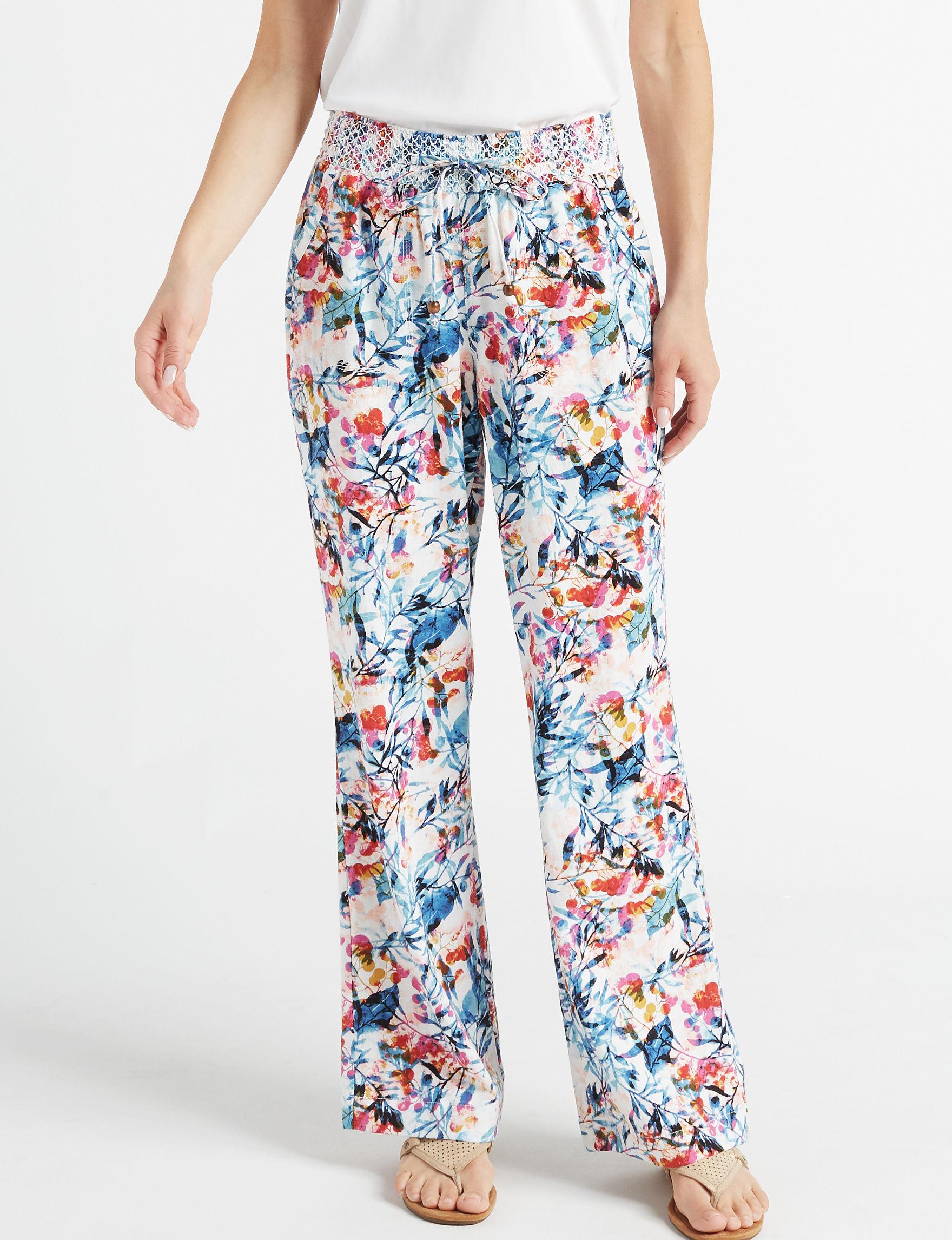 Sound Style White Multi Soft Pants