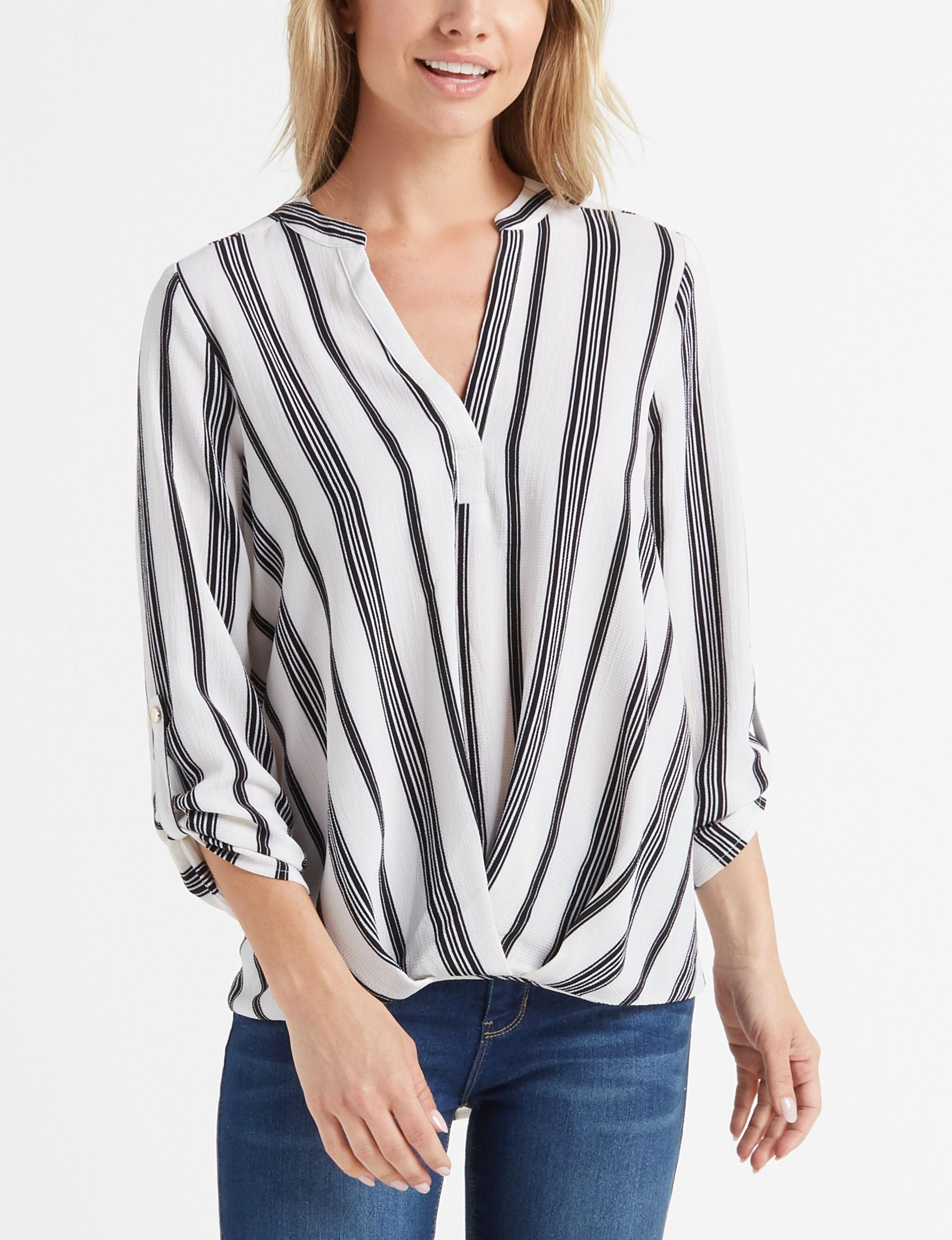 Isela White Shirts & Blouses