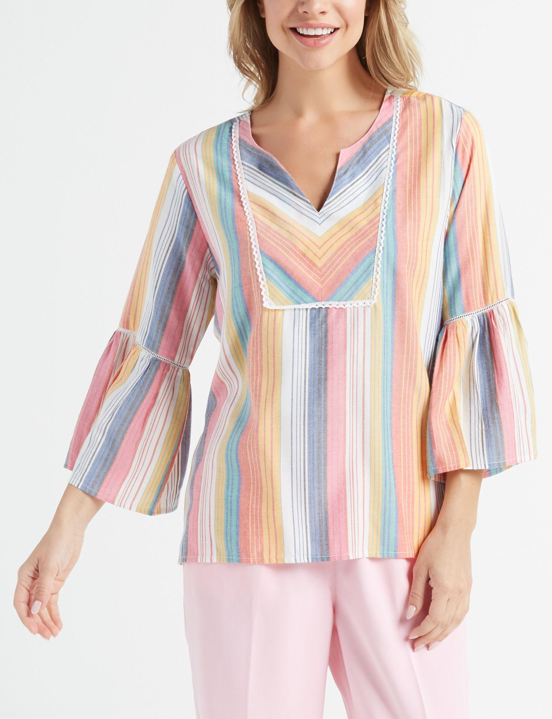 Rebecca Malone Pink Multi Shirts & Blouses Tunics