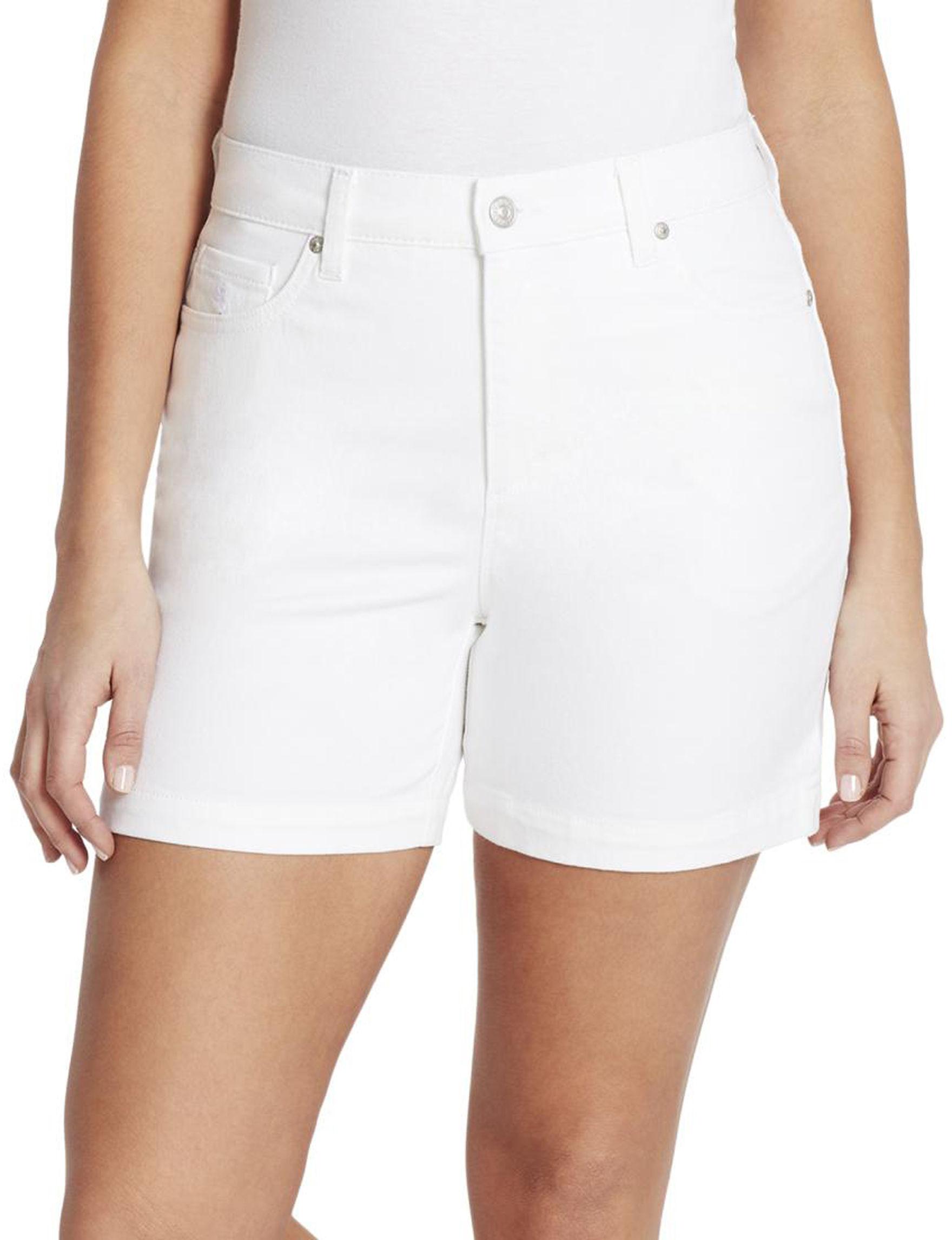 Gloria Vanderbilt White Tailored Shorts