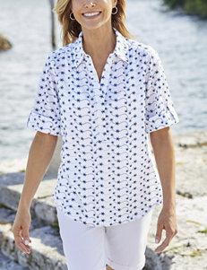 f68883fd1f5 Cathy Daniels White / Navy Shirts & Blouses