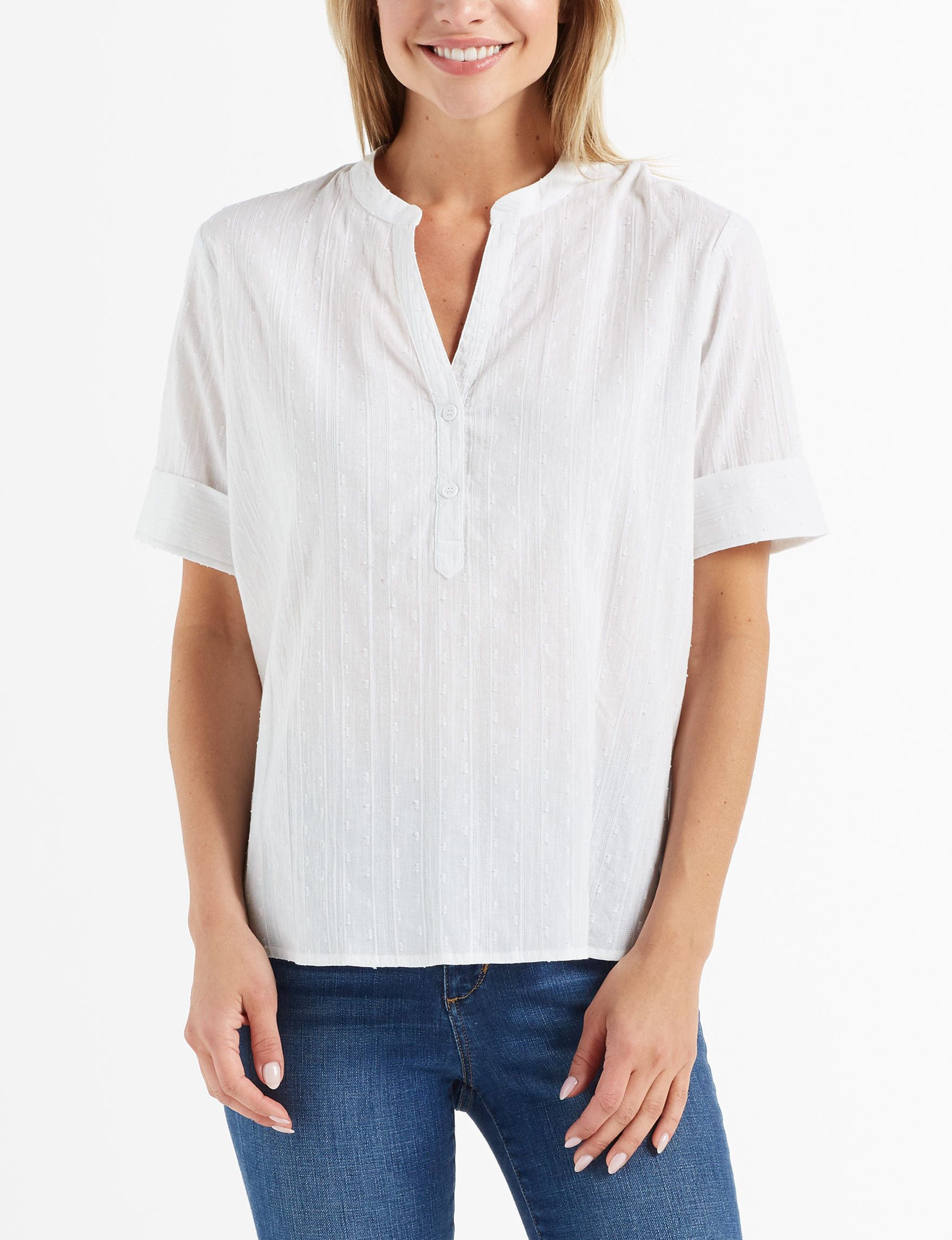 New Direction White Shirts & Blouses
