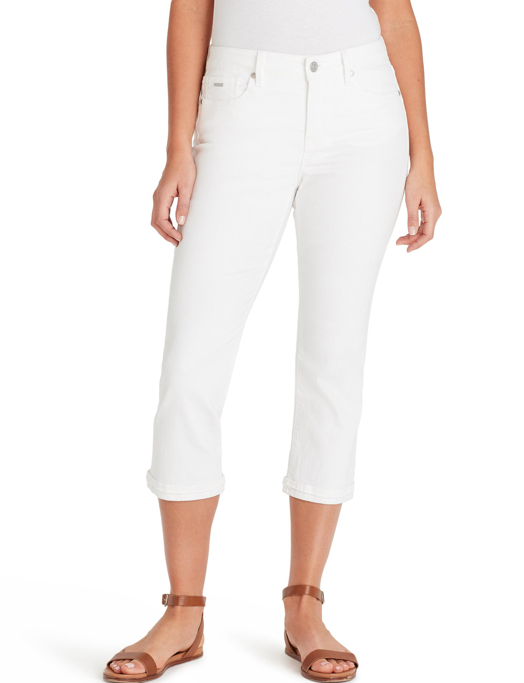 Nine West White Capris & Crops