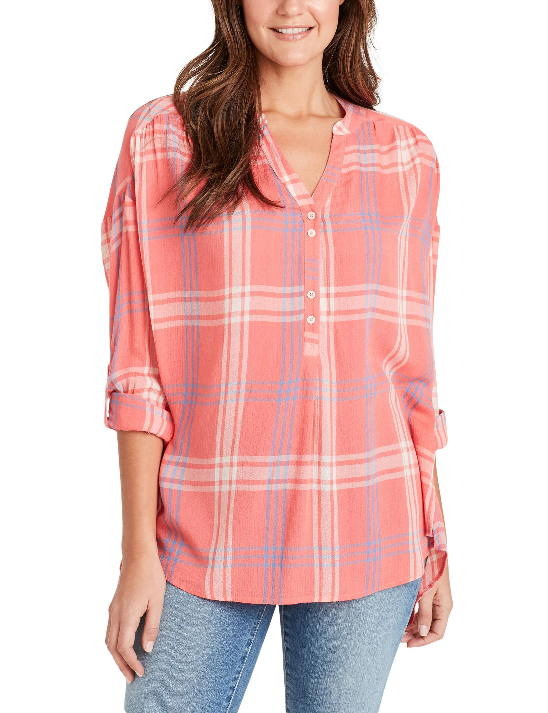 Nine West Coral Shirts & Blouses