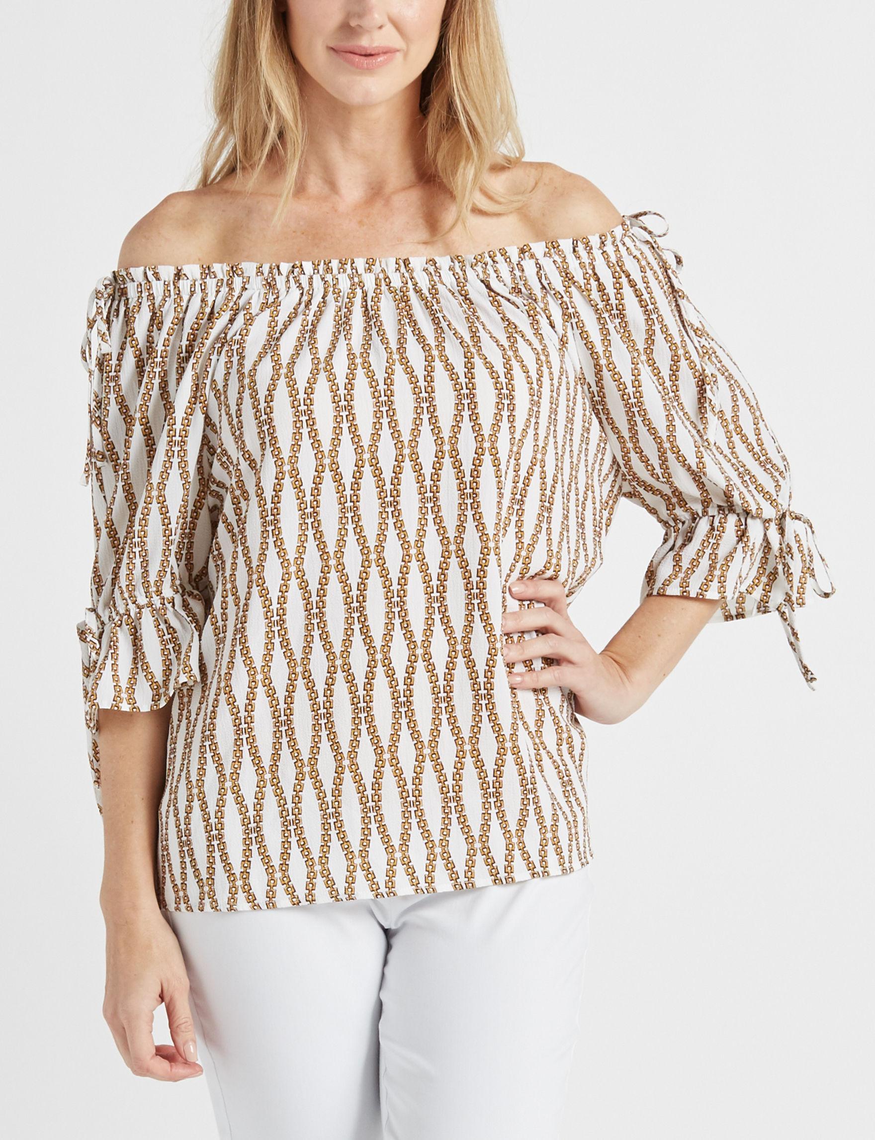 Zac & Rachel white/gold Shirts & Blouses