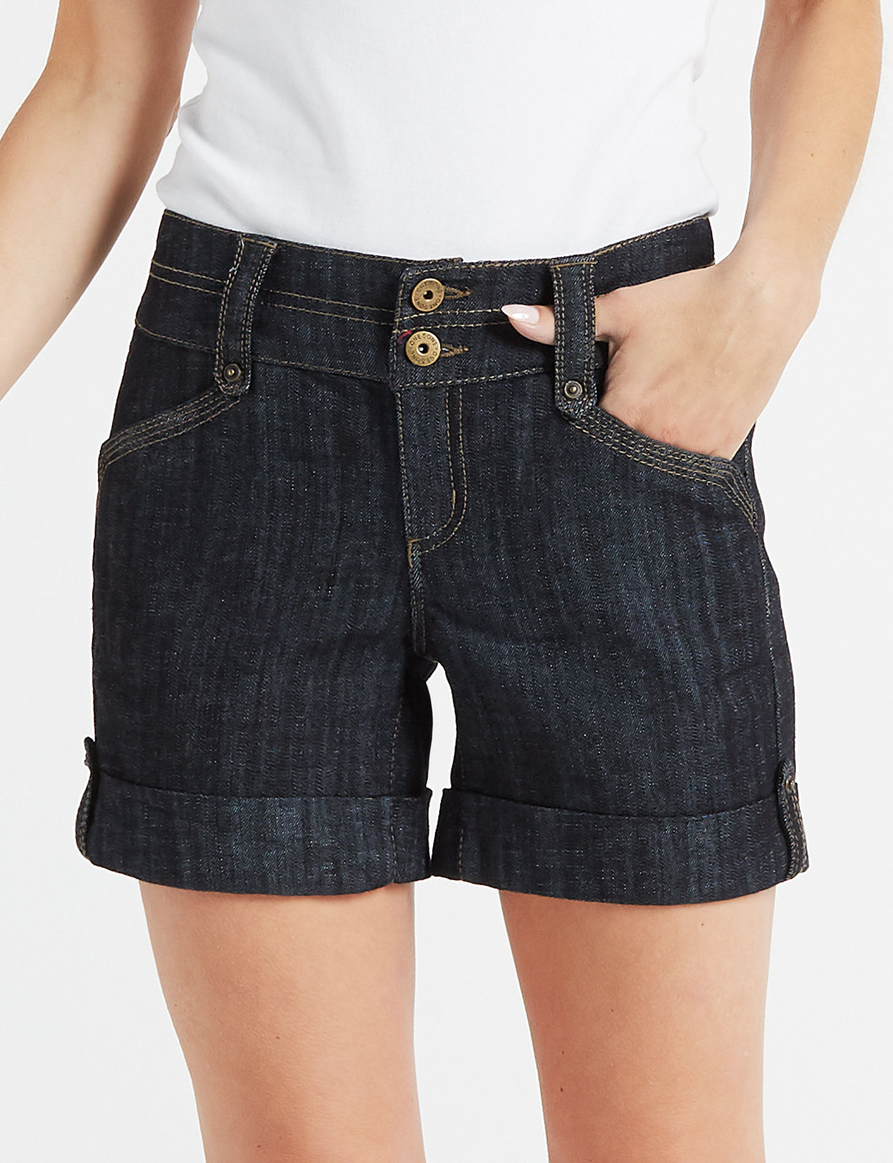 One 5 One Blue Denim Shorts