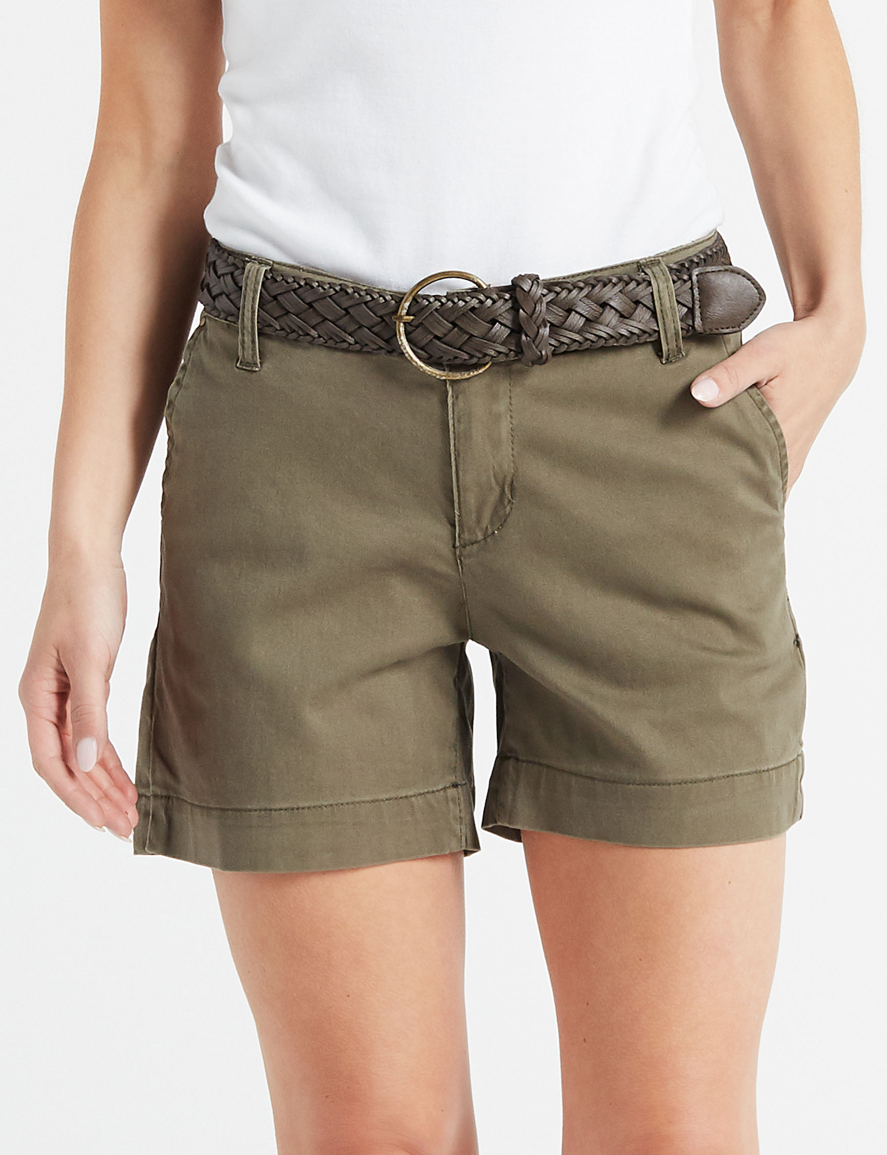One 5 One Olive Tailored Shorts
