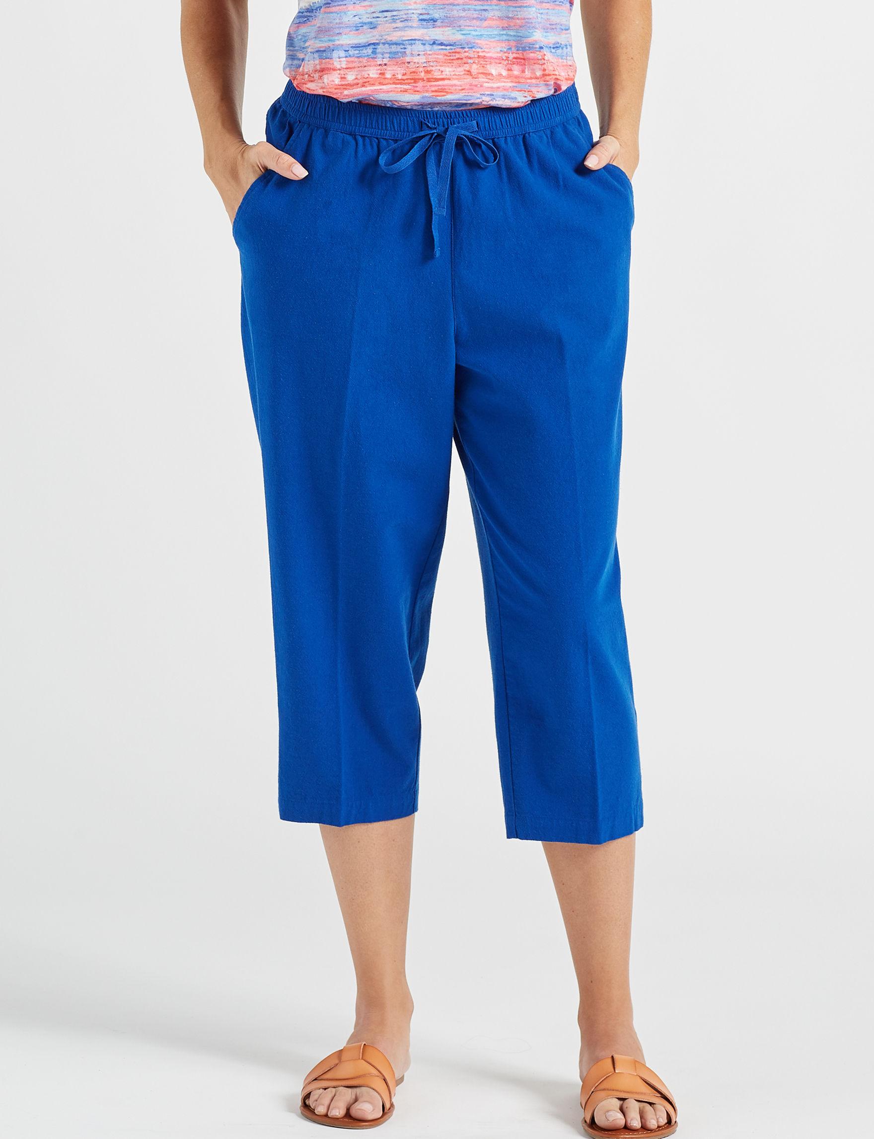 Cathy Daniels Royal Blue Capris & Crops