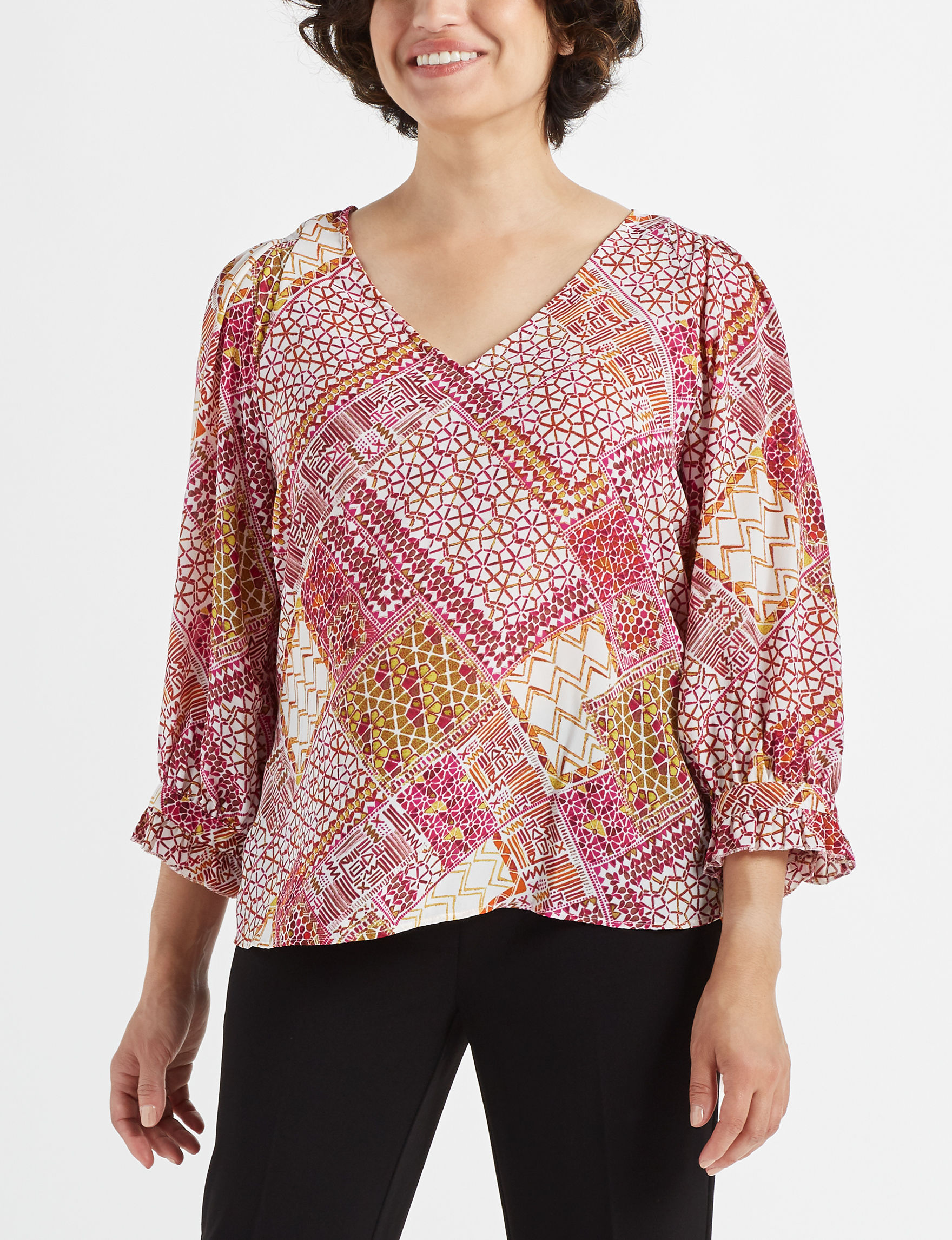 Zac & Rachel Green Multi Shirts & Blouses