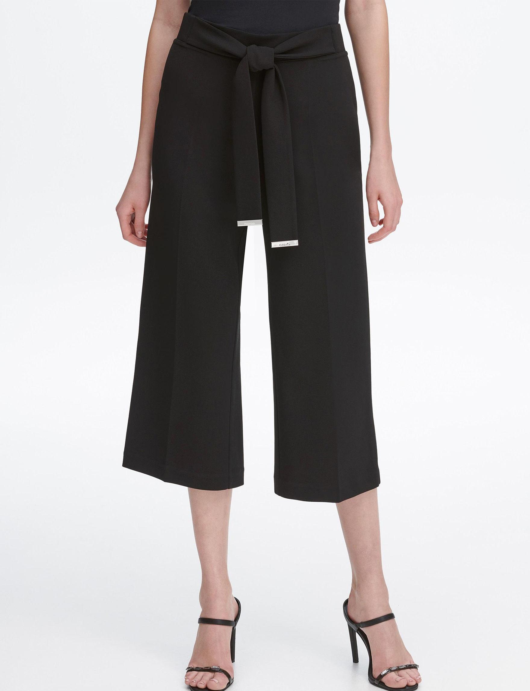 ba79866667 Calvin Klein Women s Tie Waist Culottes