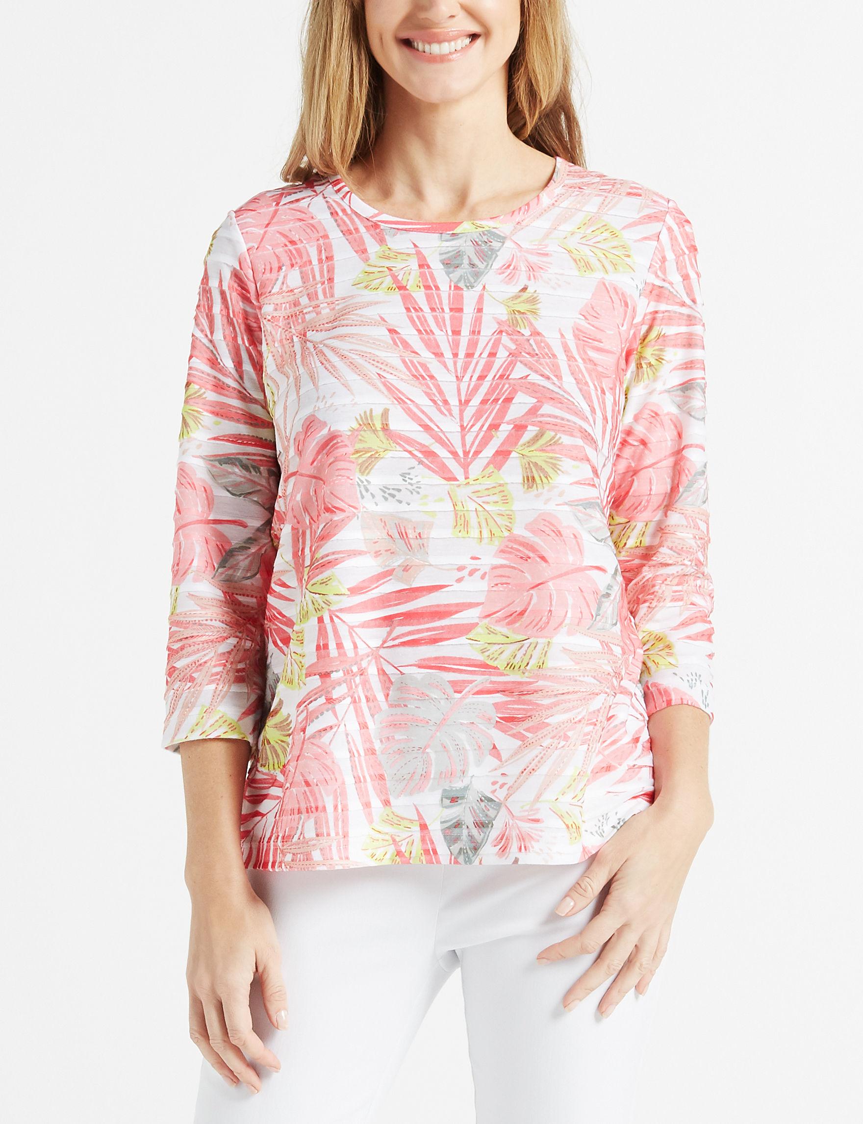 Rebecca Malone White / Coral Shirts & Blouses