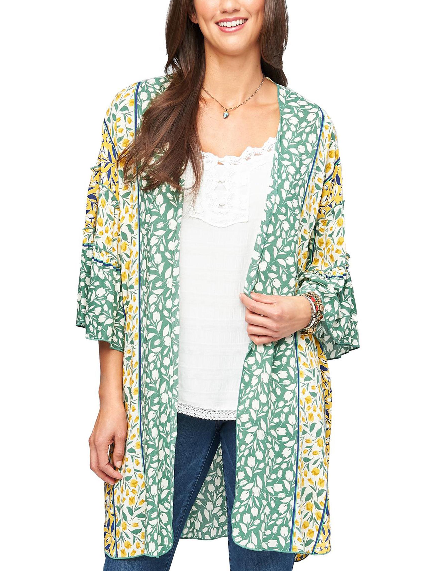 Democracy Green Kimonos & Toppers