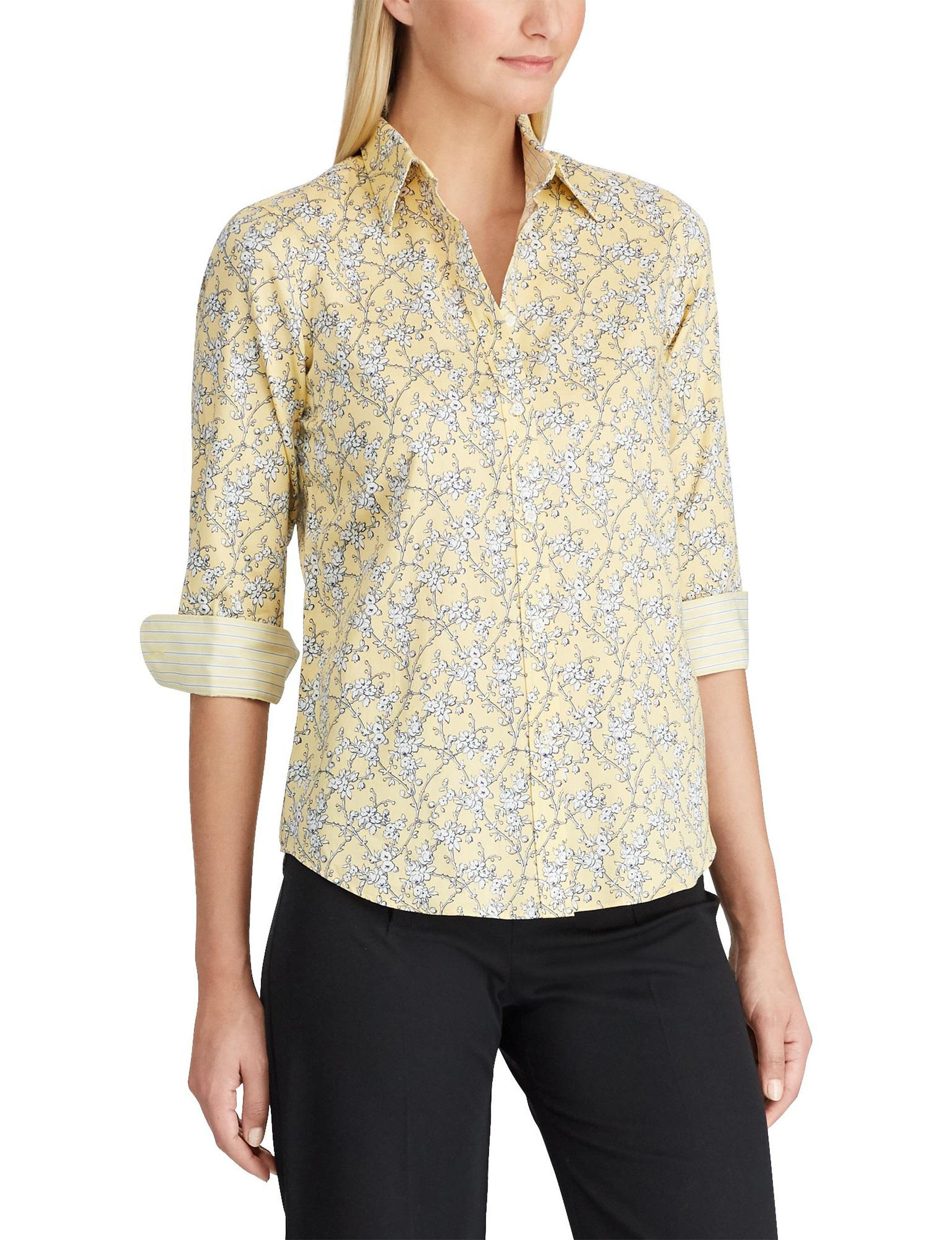 Chaps Yellow Shirts & Blouses