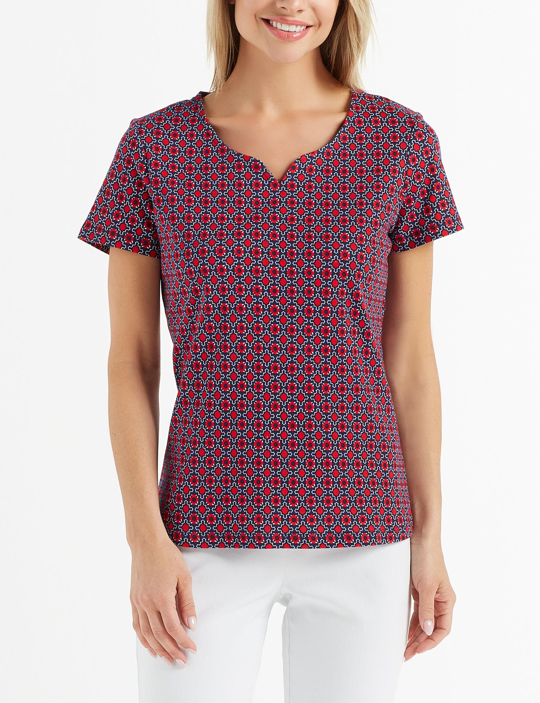 Rebecca Malone Burgundy Shirts & Blouses Tees & Tanks