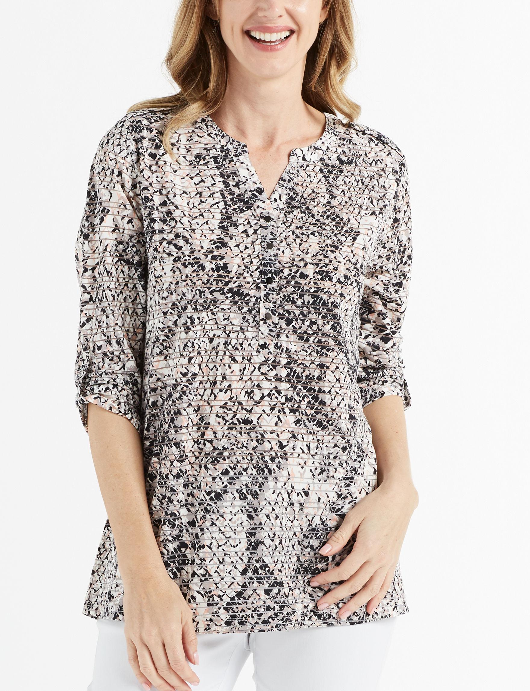 Rebecca Malone Pink Multi Shirts & Blouses