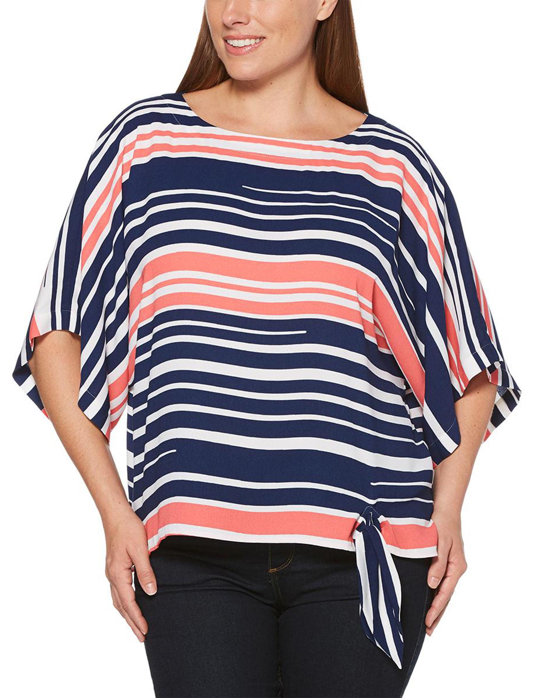 Rafaella Navy Stripe Shirts & Blouses