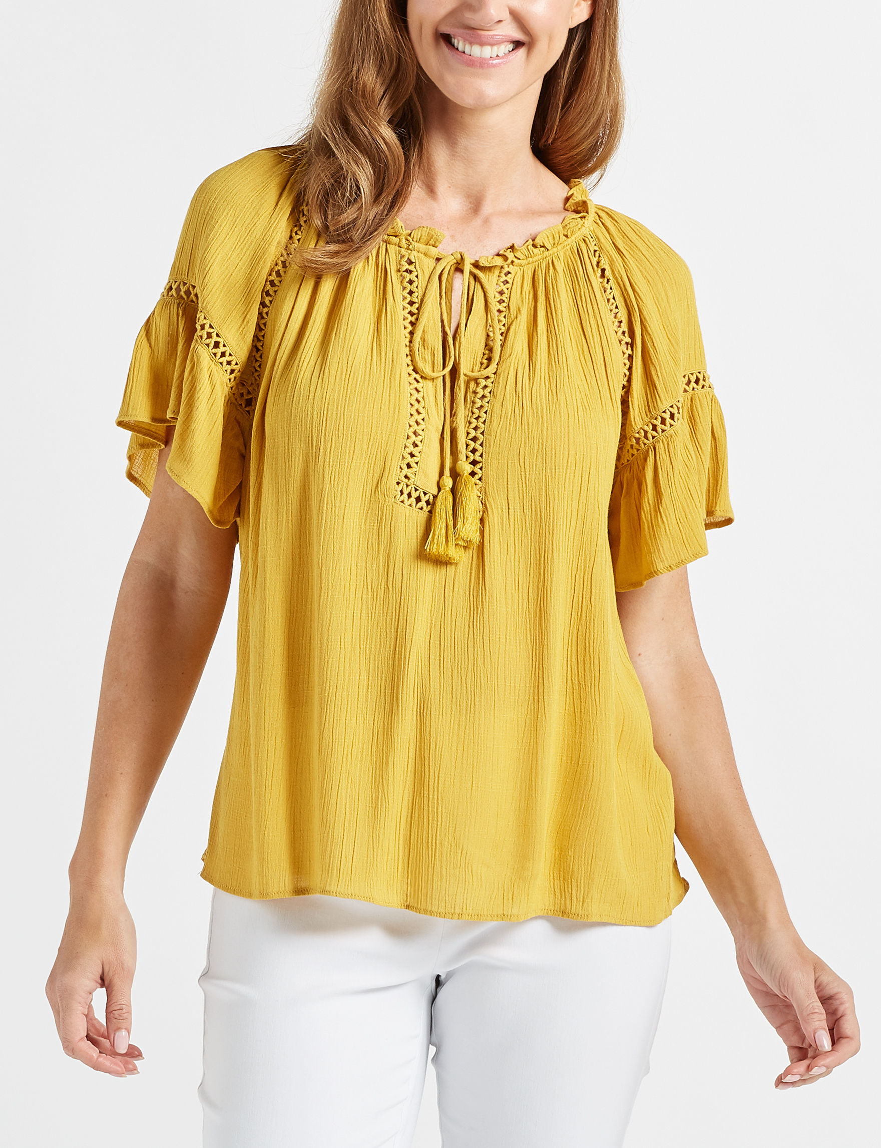 John Paul Richard Yellow Shirts & Blouses