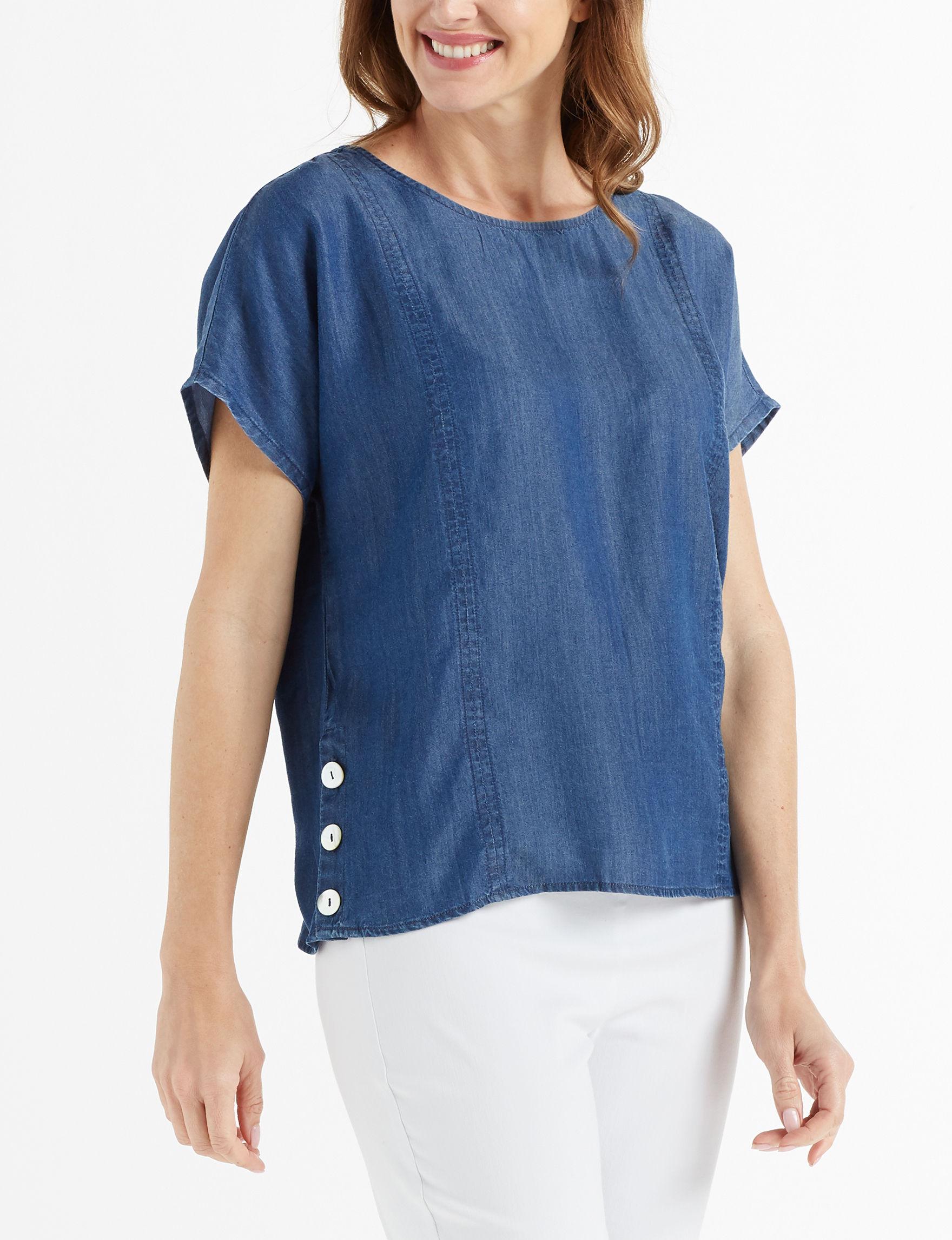 John Paul Richard Blue Shirts & Blouses