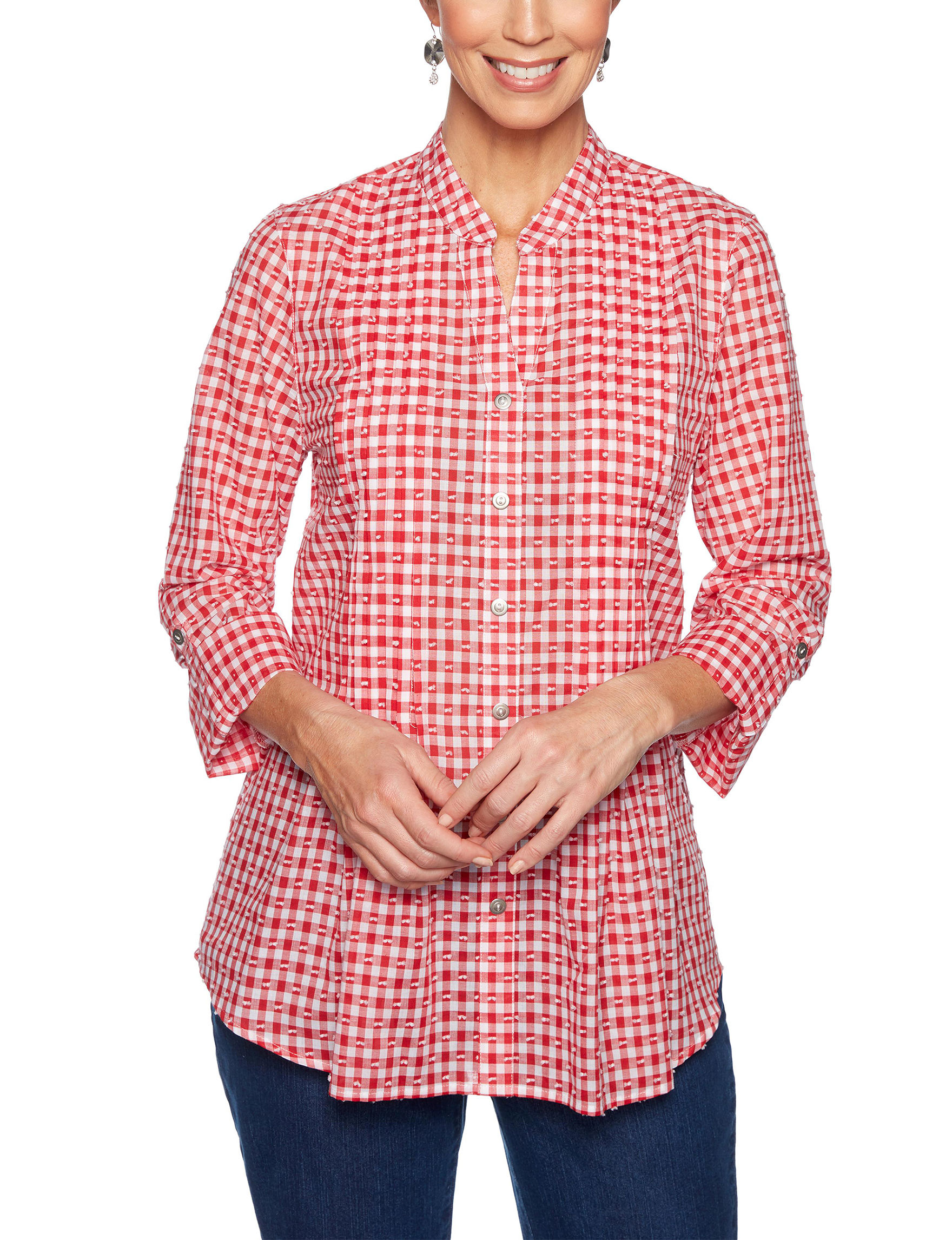 Ruby Road Red Shirts & Blouses