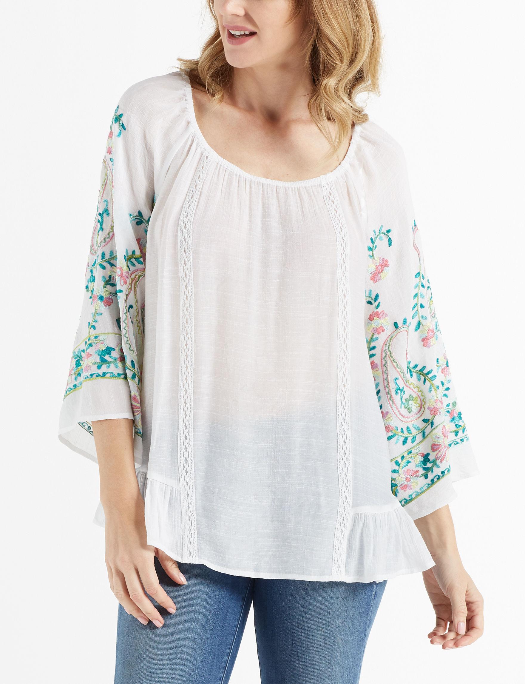 Zac & Rachel White Shirts & Blouses