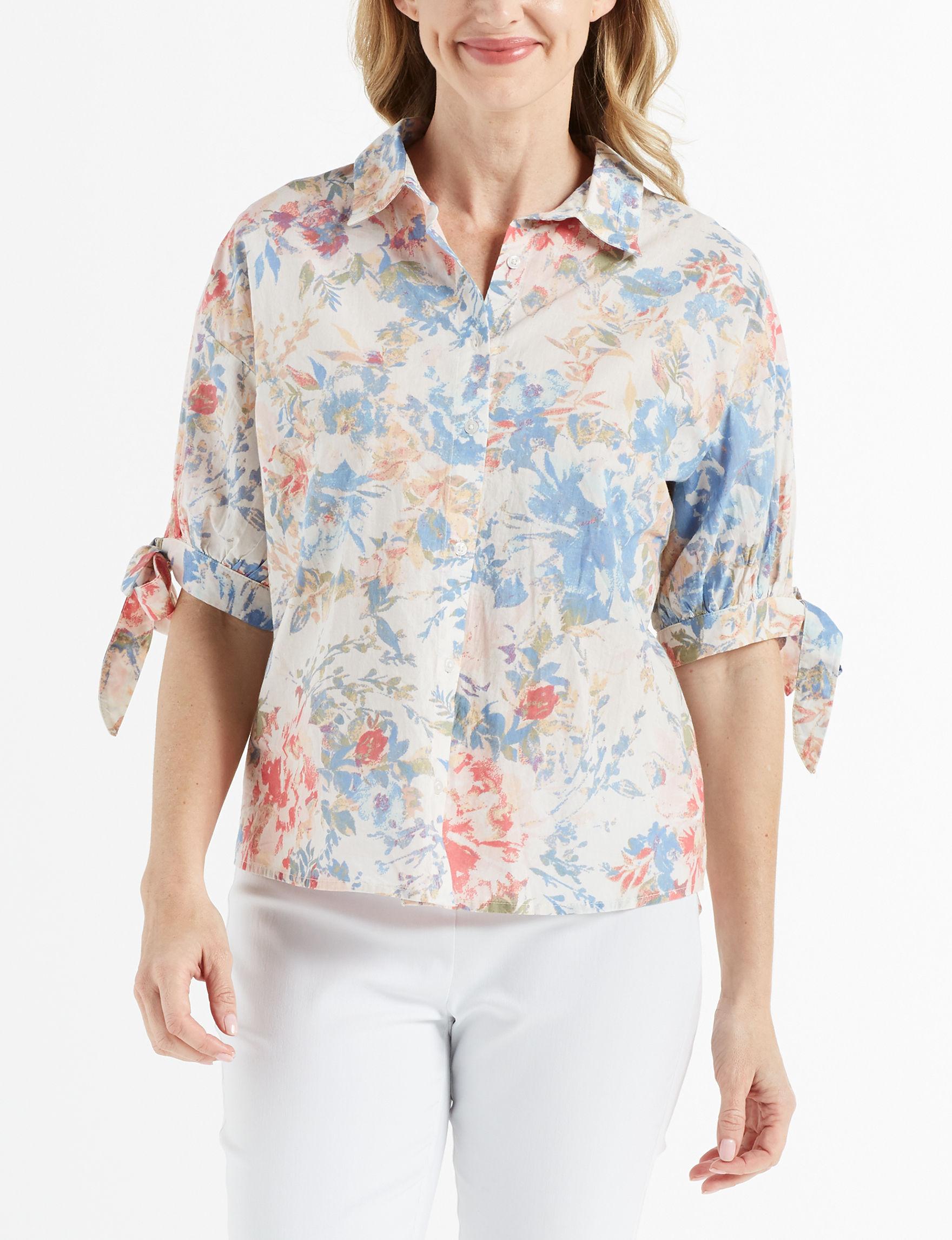Gloria Vanderbilt White Shirts & Blouses