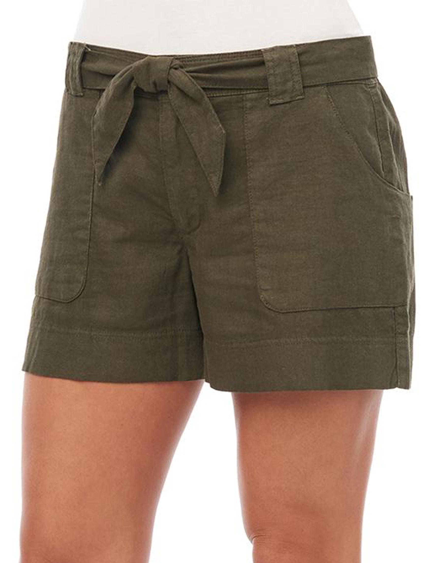 Democracy Olive Denim Shorts