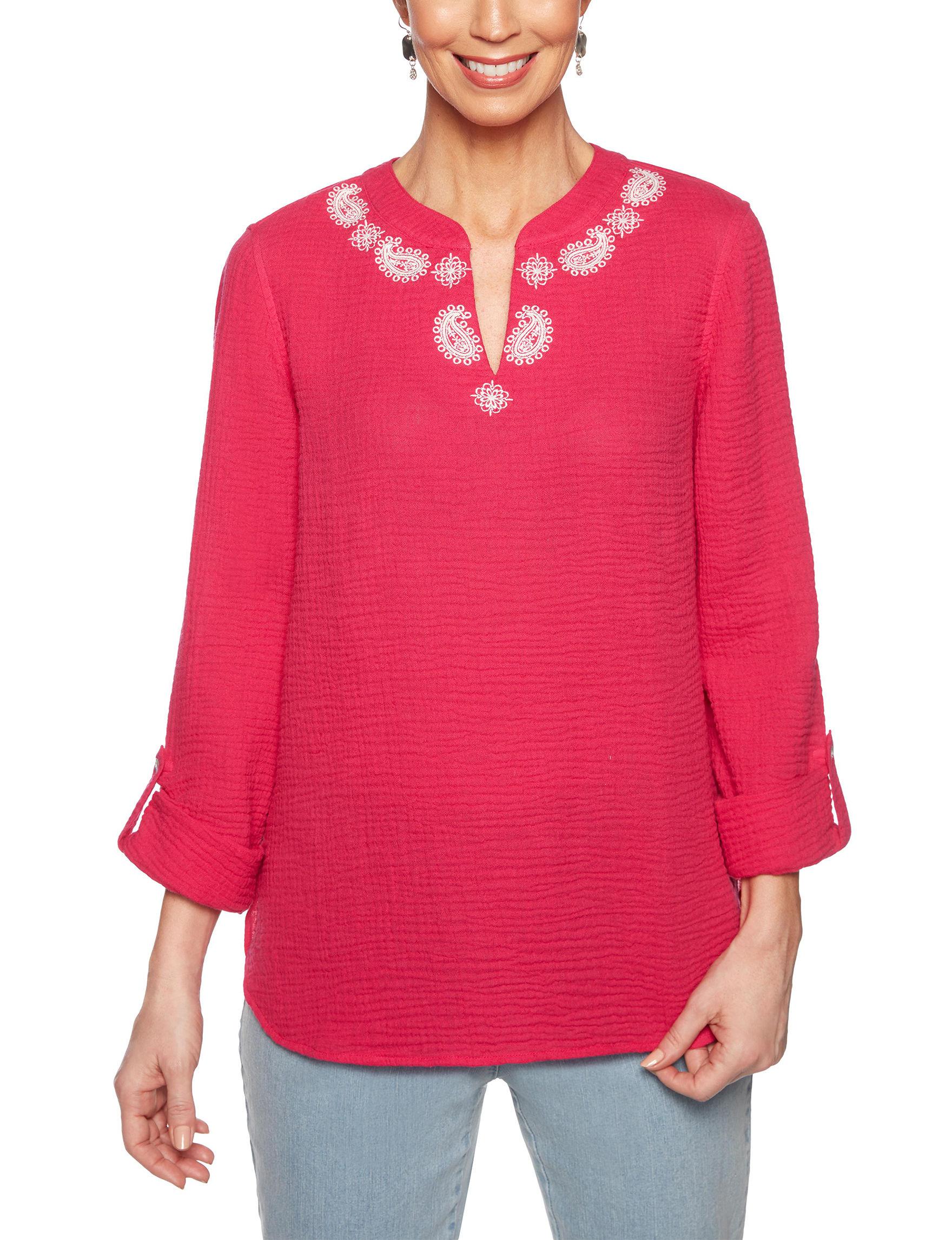 Ruby Road Fuchsia Shirts & Blouses