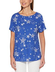 Rafaella Blue Shirts & Blouses Strapless